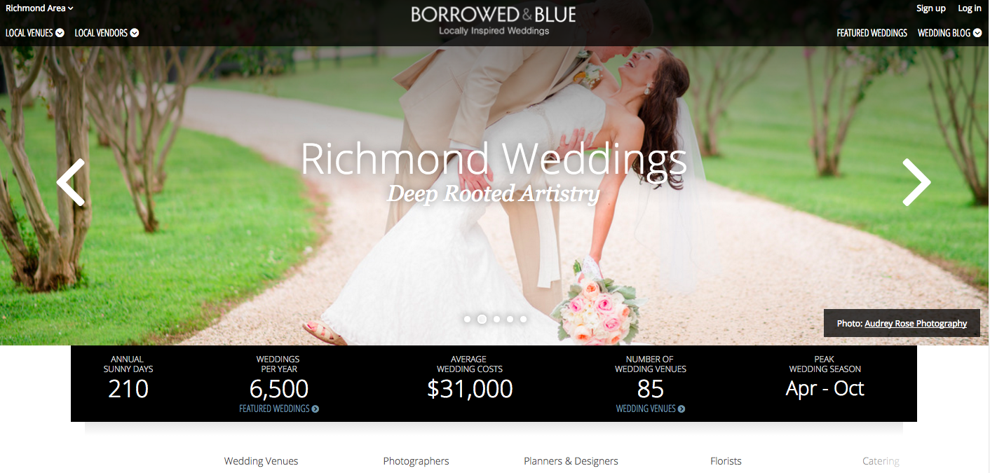 Borrowed and Blue_Wedding Website