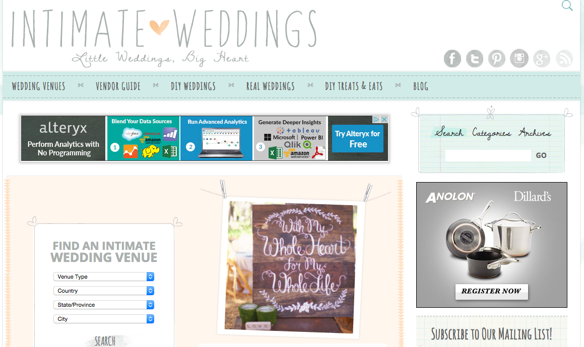 Intimate Weddings_Best Wedding Websites