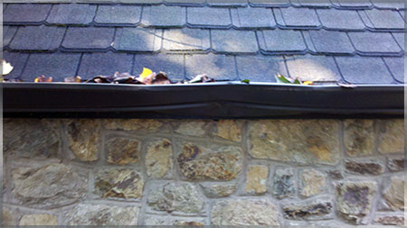 Damaged gutters found upon inspection of this home in Bethesda, Maryland