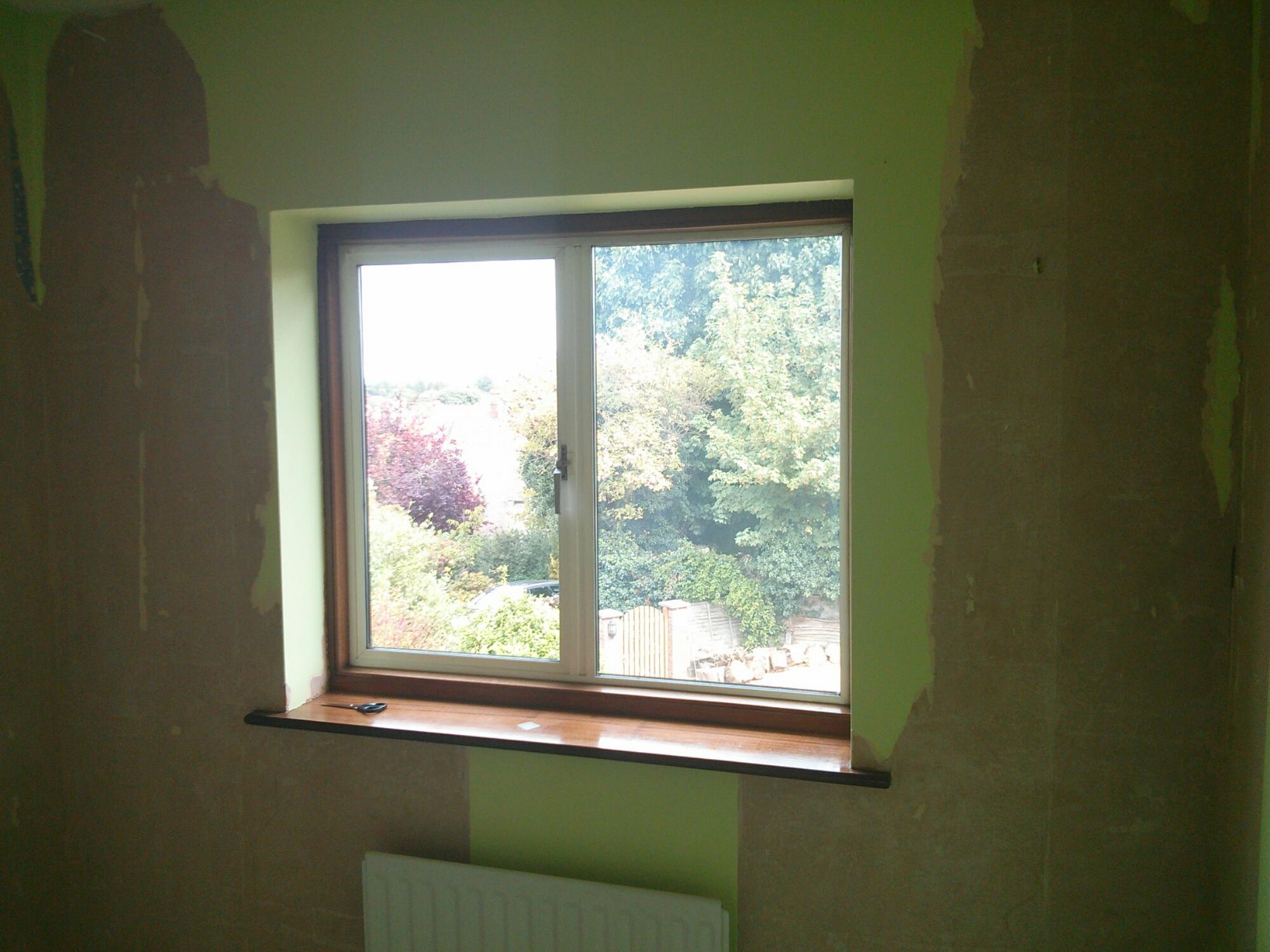 Last vestiges of green wallpaper