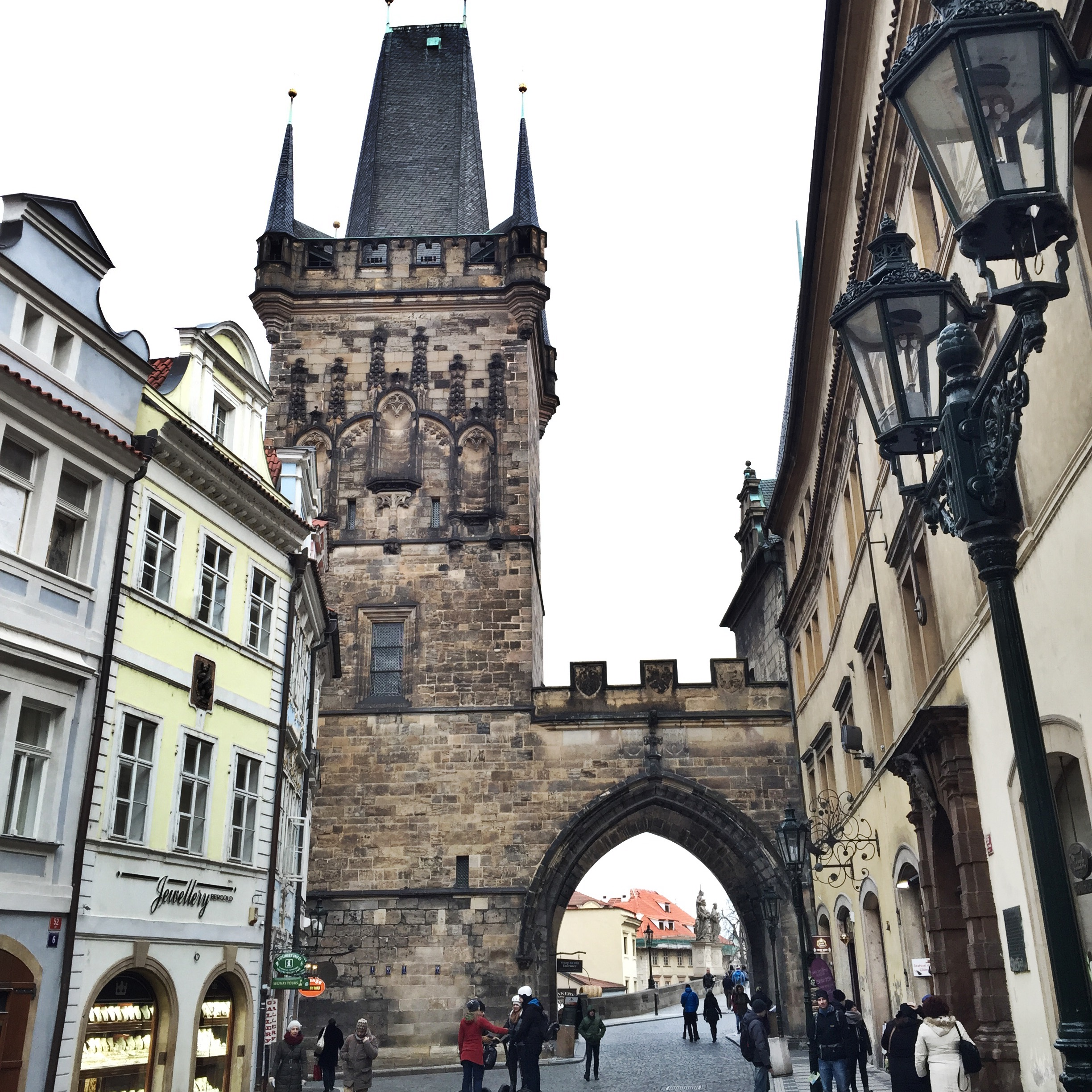 Torre da Ponte Carlos. Tower from the Charles Bridge.