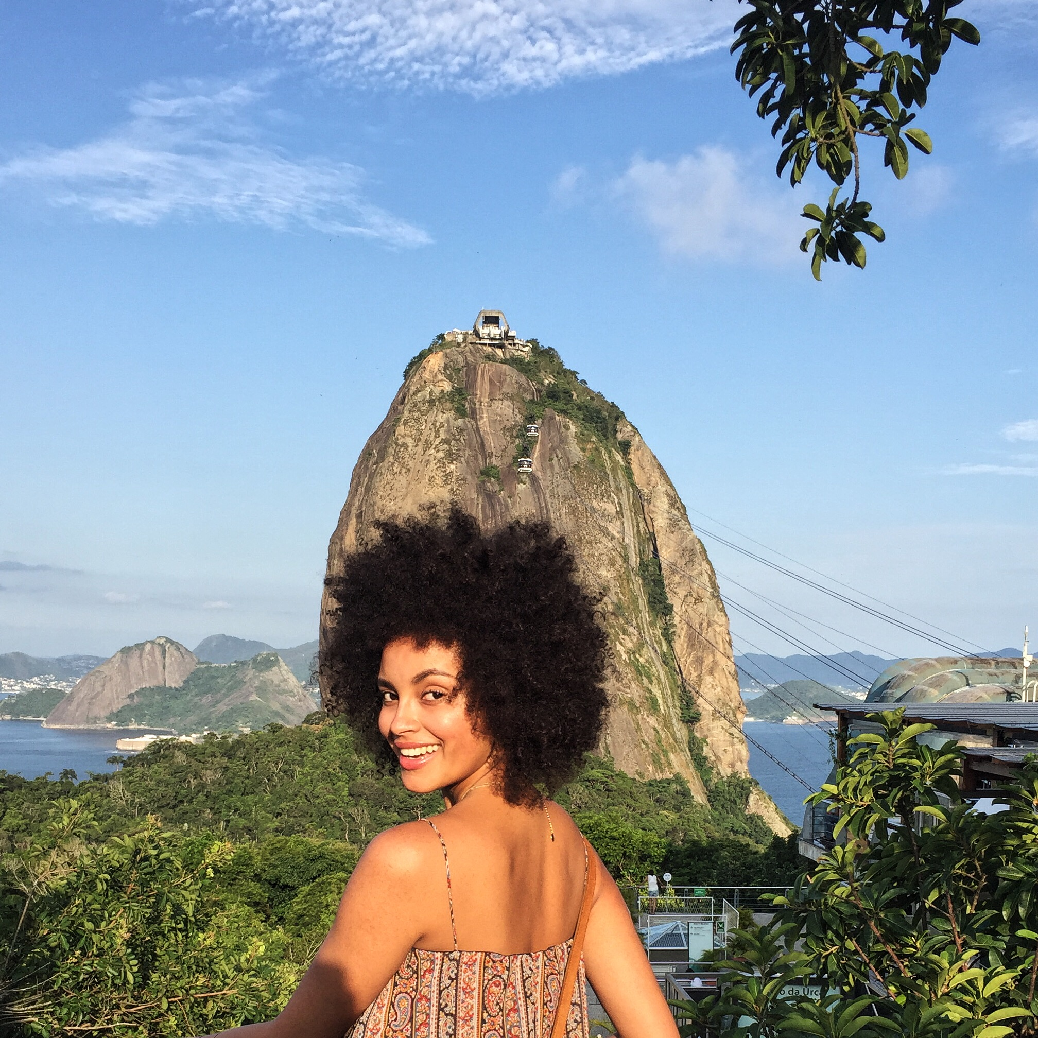 At the iconic Sugar Loaf!