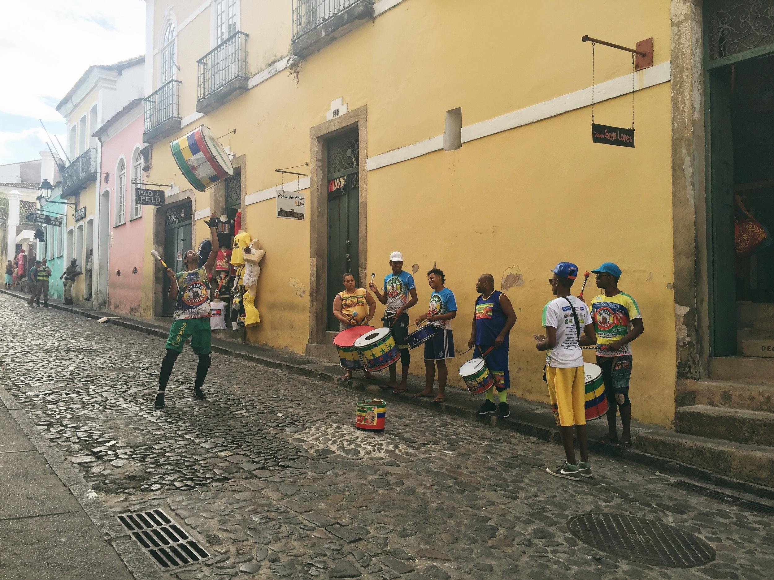 Drums at the streets of Pelourinho.