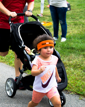 One of our littlest (and cutest) HOPE supporters with her game face on!