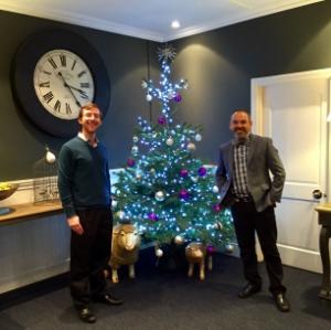 Brendan and Brett visiting their London based client (December 2015).