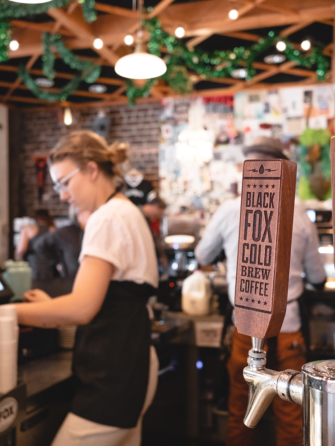 We've got Black Fox Cold Brew on tap