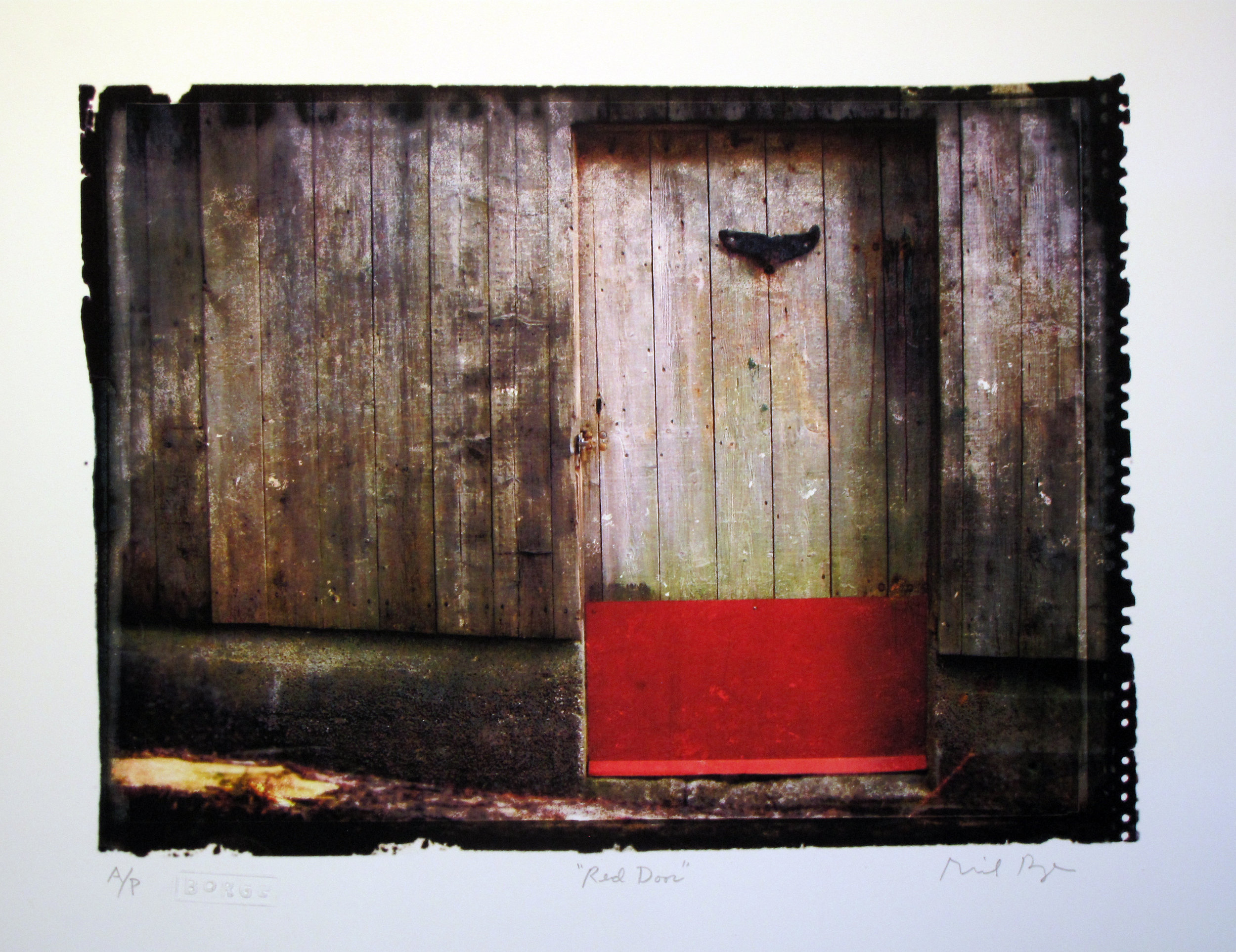 Borge_Richard_01_Red Door_Print_10 x 13 in_Framed.jpg