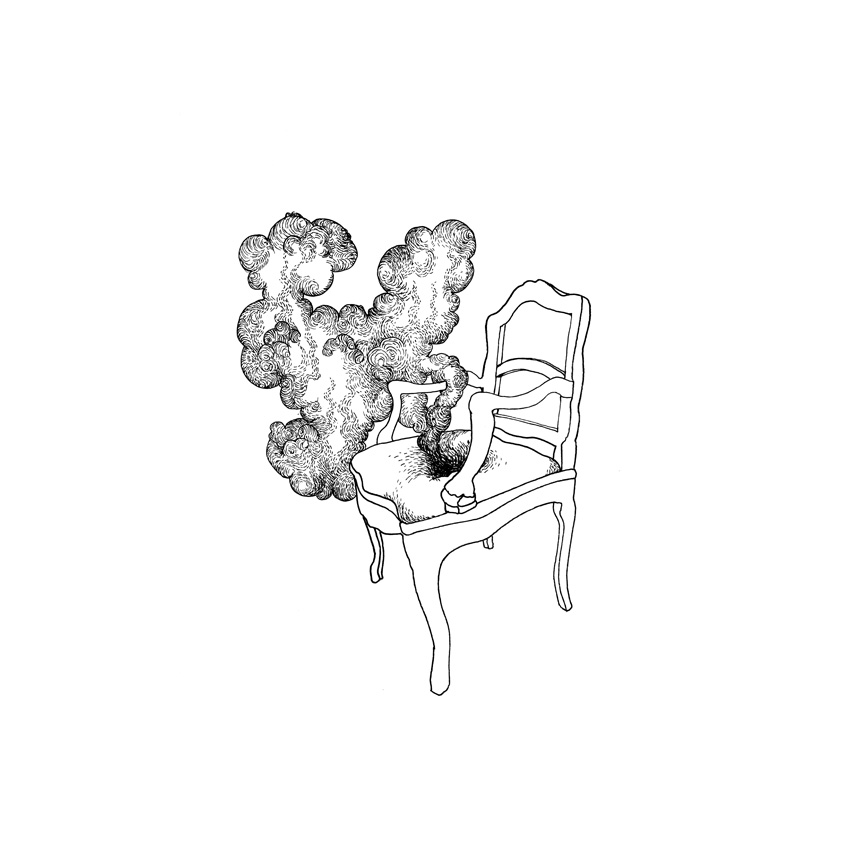 Hegardt_Bjorn_ 01_chair (smoke) 2009_ink on paper_30x30 cm_12 x 12 inches_framed.jpg