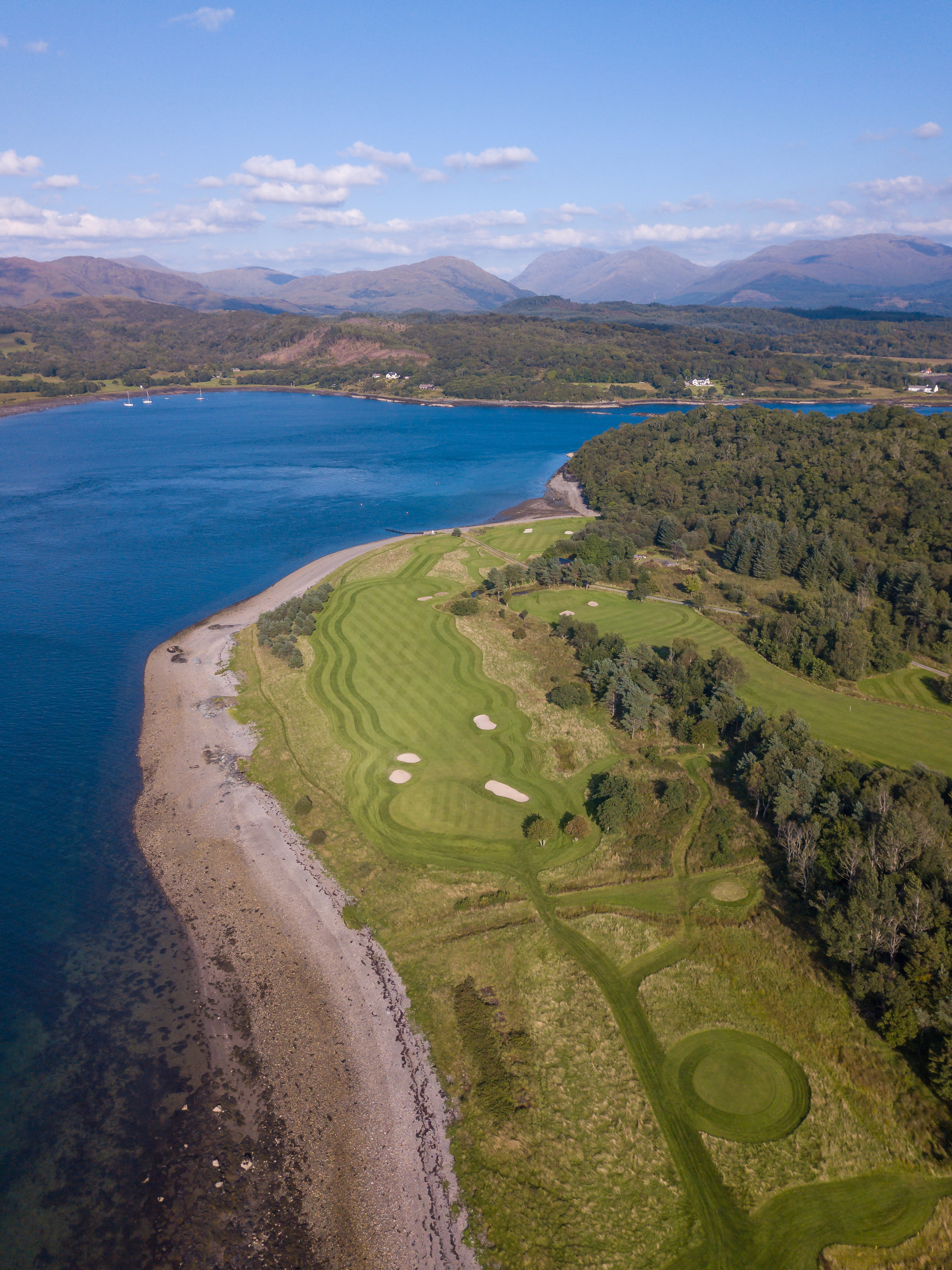 The island scenery surrounding the hotel and the iconic six-hole golf course plays a key part in the promotional film.