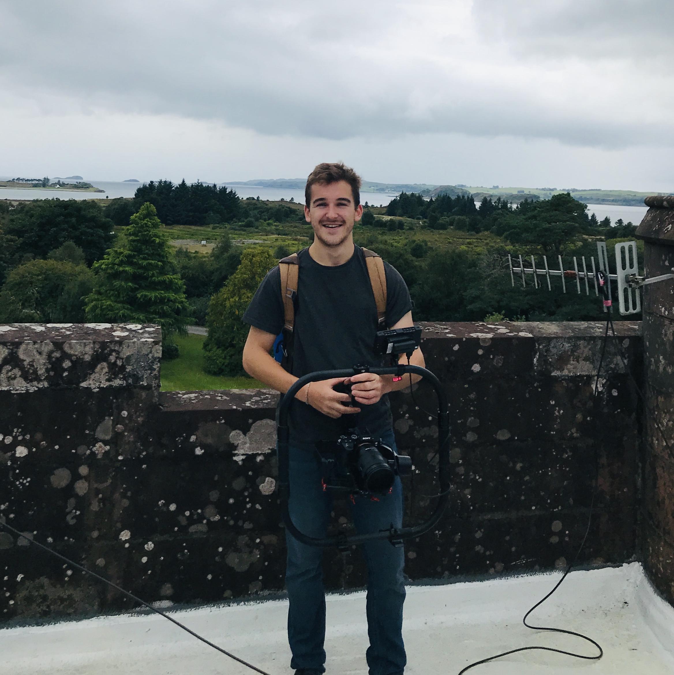 Rooftop filming!