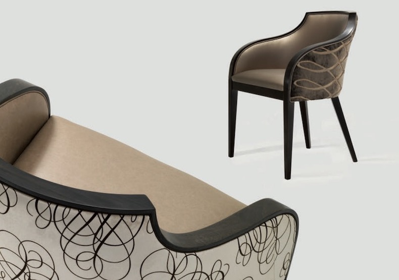 Hotel and restaurant contract furniture in Rocca Bar and Grill in Scotland