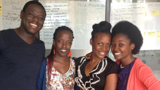 Akwasi Sarpong met the team of software developers making a sickle cell anaemia detector.