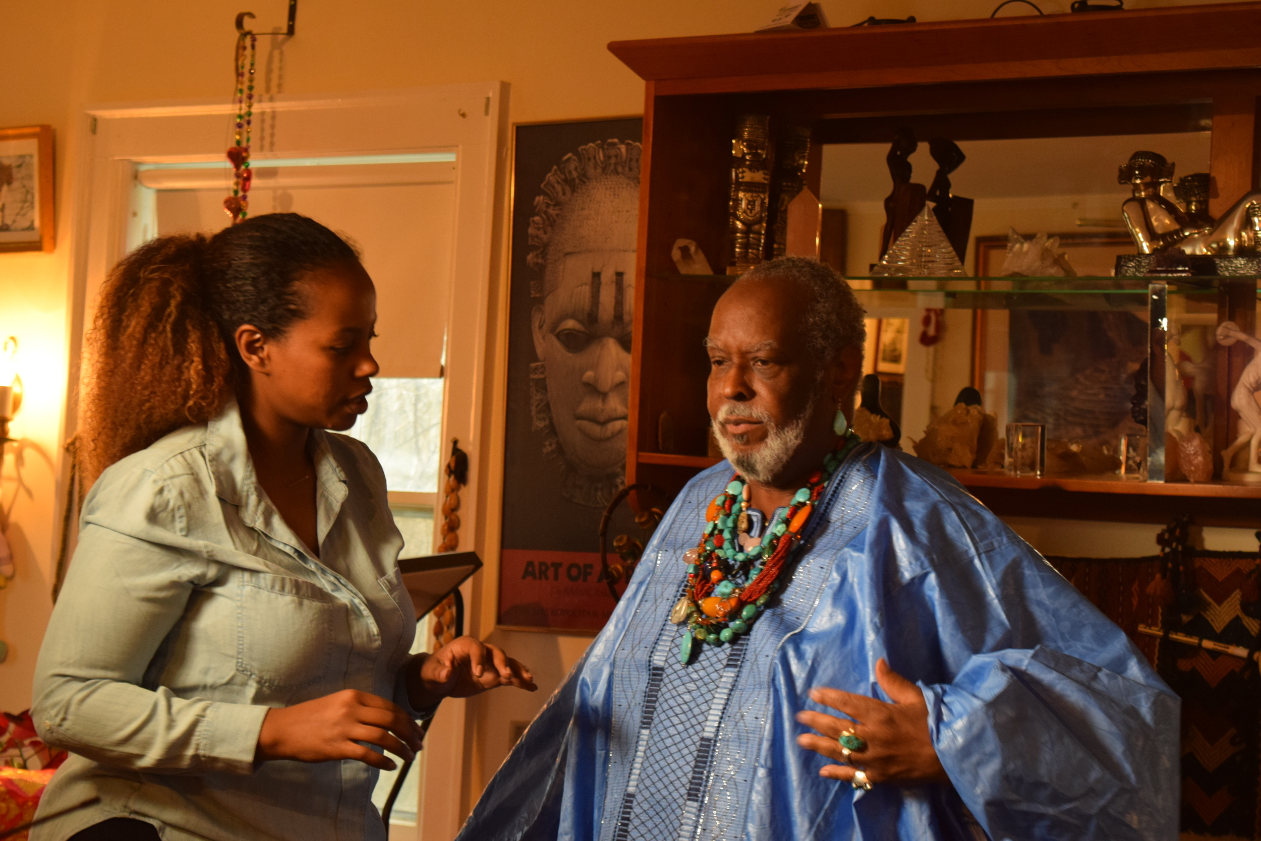 DivaMan was interviewed by CNN's Haimy Assefa (pictured with DivaMan in his living room) on March 28, 2016 for TheGreatBigStory.com. The segment was published on Tuesday, April 5, 2016. See the video  HERE  and read reactions from friends and fans below!!!!!!!!!!