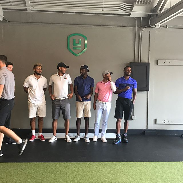 Had fun with the guys yesterday at @theugp. Definitely the best golf development center I've been too. Great staff with a laid back Cali vibe. Hope to see you guys again. #AdvocatesTour #UGP #Golf #Trackman #SamPuttingLab #GolfMassage #GolfFitness