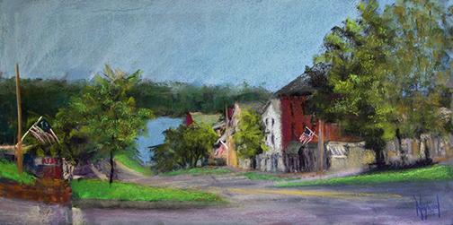 Wiscasset Village by Anne Heywood.