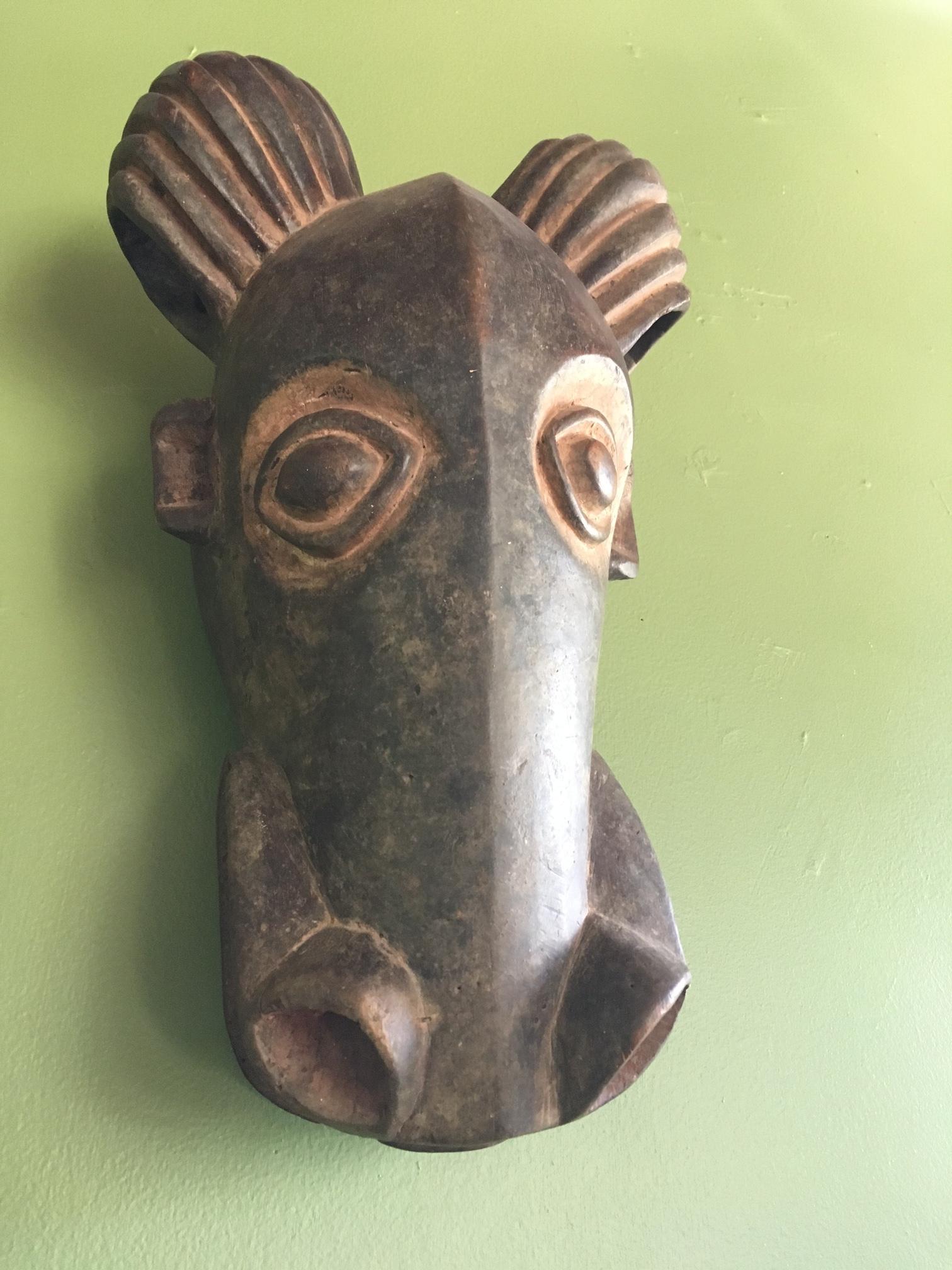 Bamileke mask, hand-carved, Cameroon