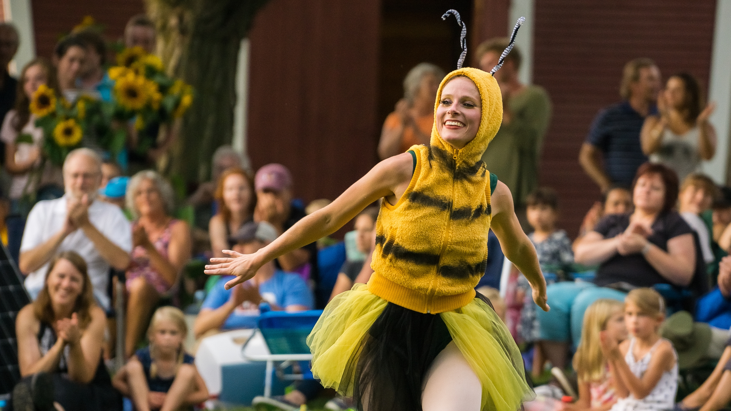 A Pollinator at the 2015 Farm to Ballet Production at Philo Ridge Farm (August 2015. Photo: Jonas Powell)