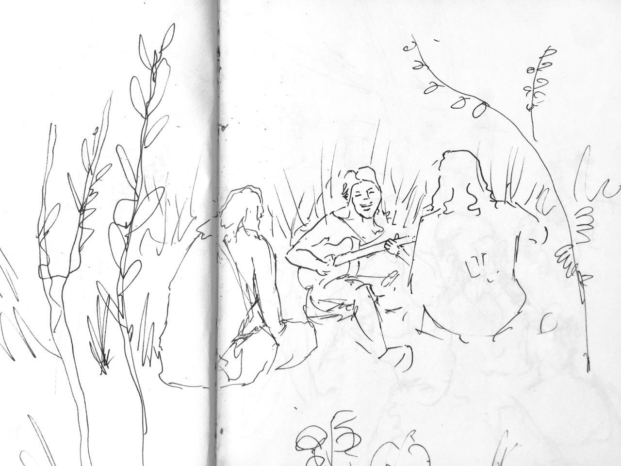 Sasha singing in the reeds.