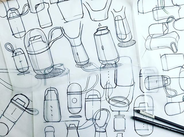 I'm taking a crack at the #breathebetterwithcs inhaler concepts. Just a couple of quick thoughts so far but CAD is in progress!  #industrialdesign #idsketching #design #productdesign #breathebetterwithcs #product #doodle #sketchbook #sketch #instasketch #sketching #creative #creativity @creativesession
