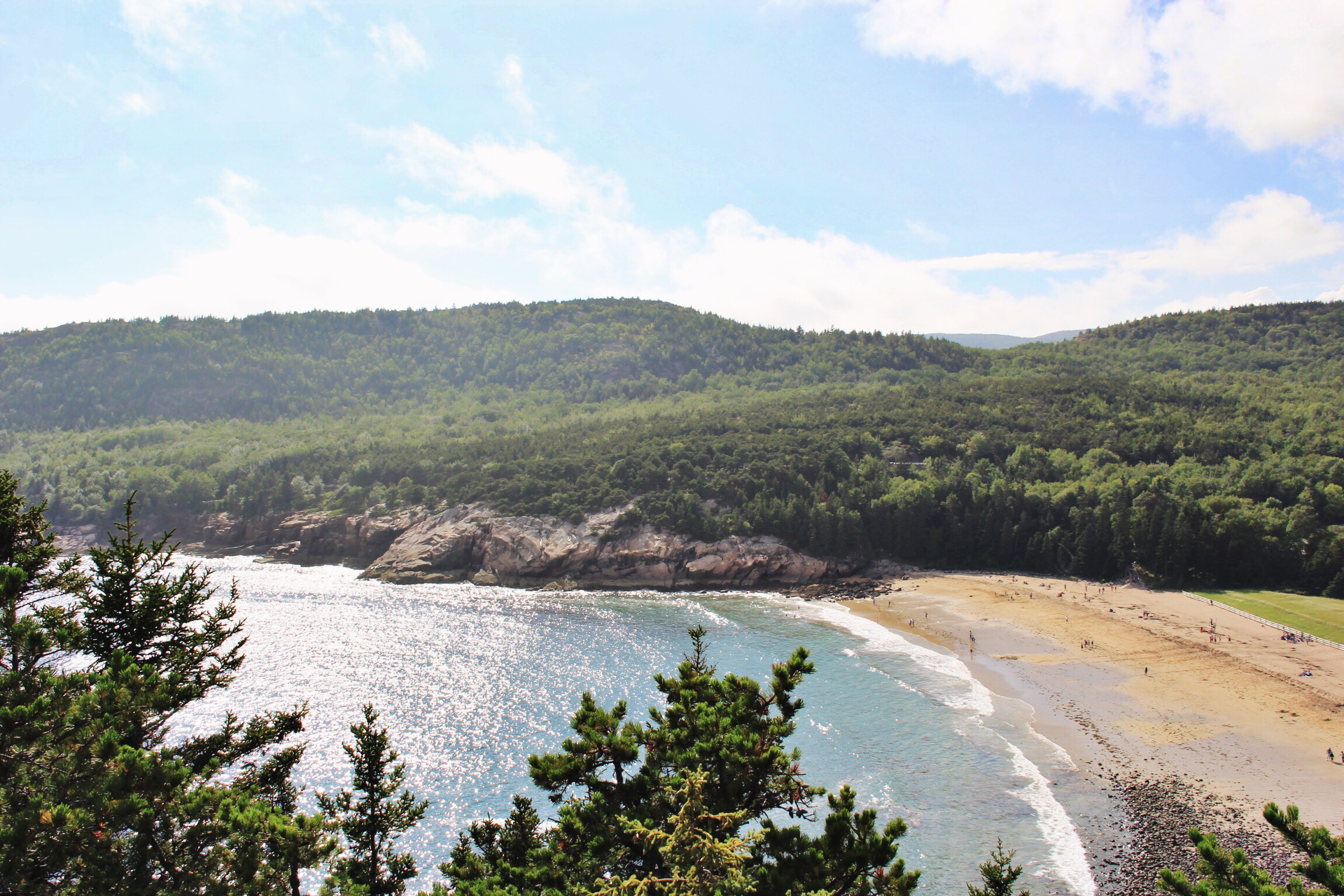Overlooking Sand Beach, Acadia National Park - The Pastiche