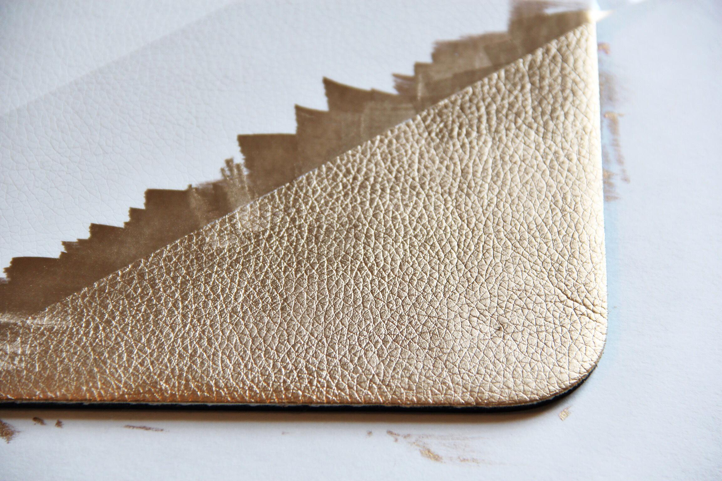 DIY gold leaf mousepad - The Pastiche