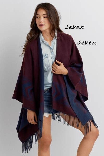 Southwestern fringe poncho - American Eagle Outfitters