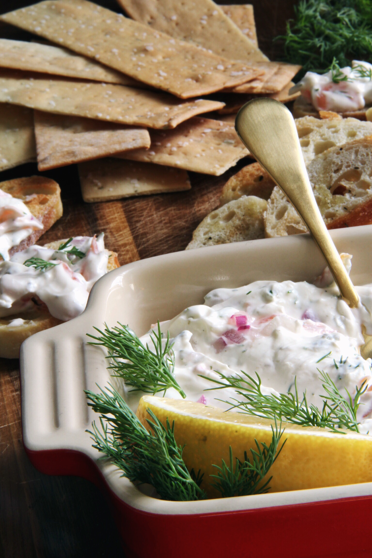 Smoked salmon spread with lemon and dill - The Pastiche