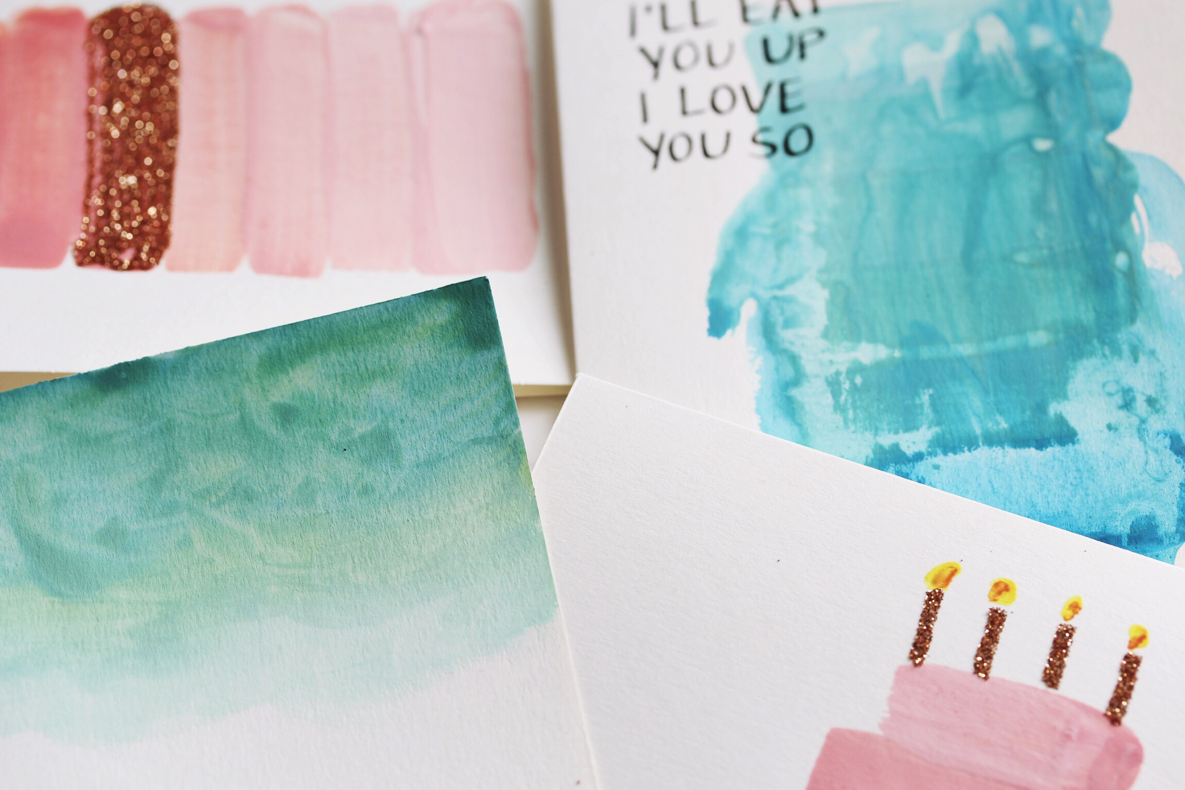 DIY water color cards - The Pastiche