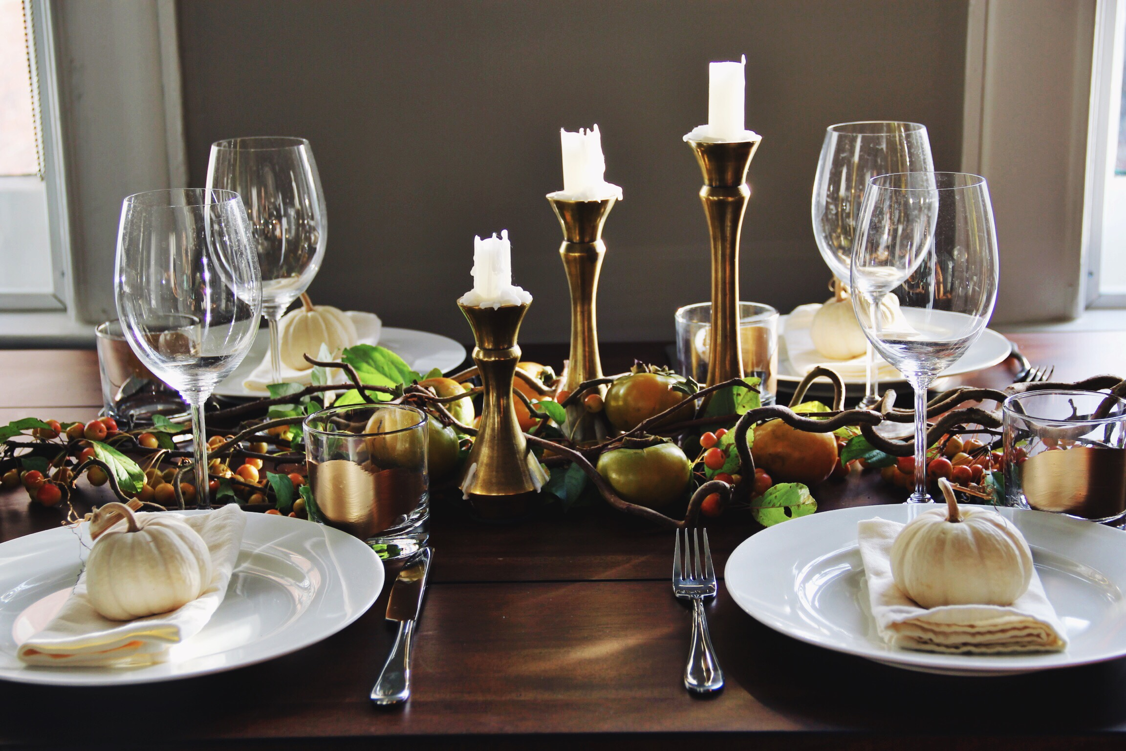 Thanksgiving tablescape - The Pastiche
