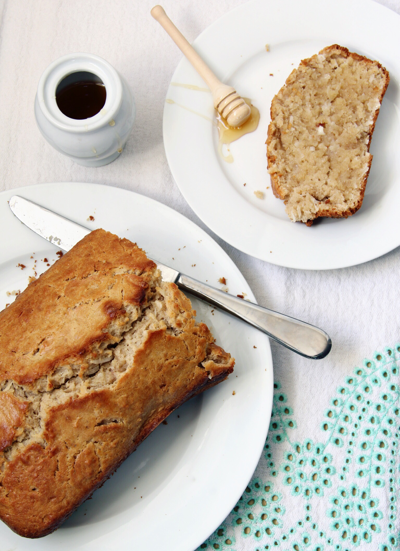 Coconut bread with honey butter - The Pastiche