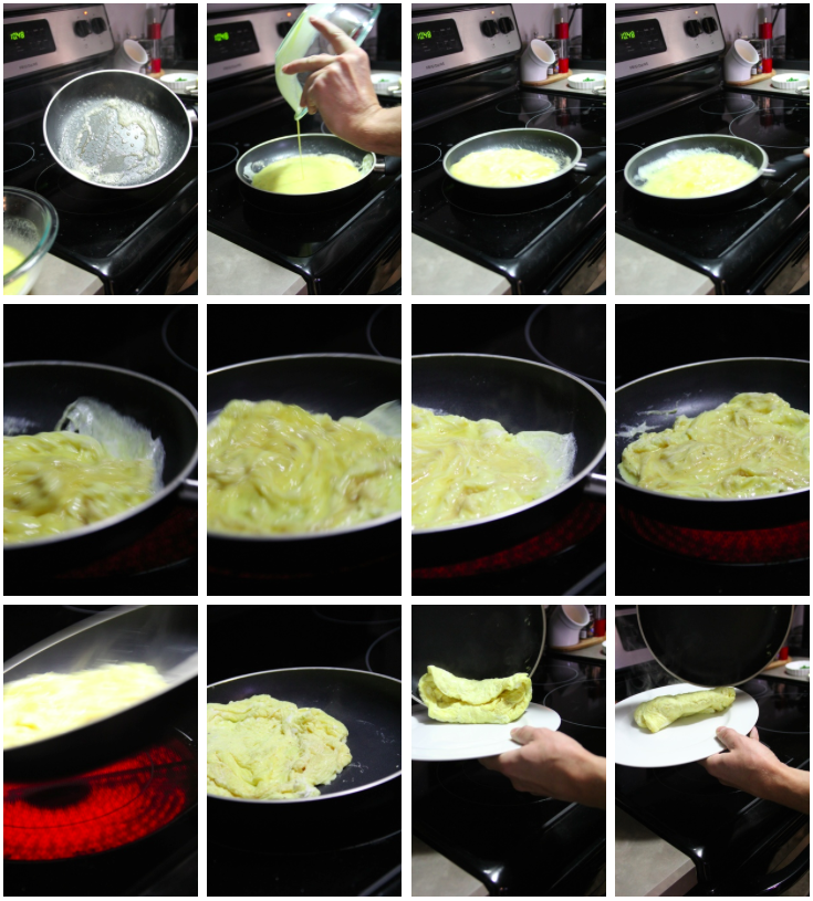 Steps for the perfect French omelette - The Pastiche