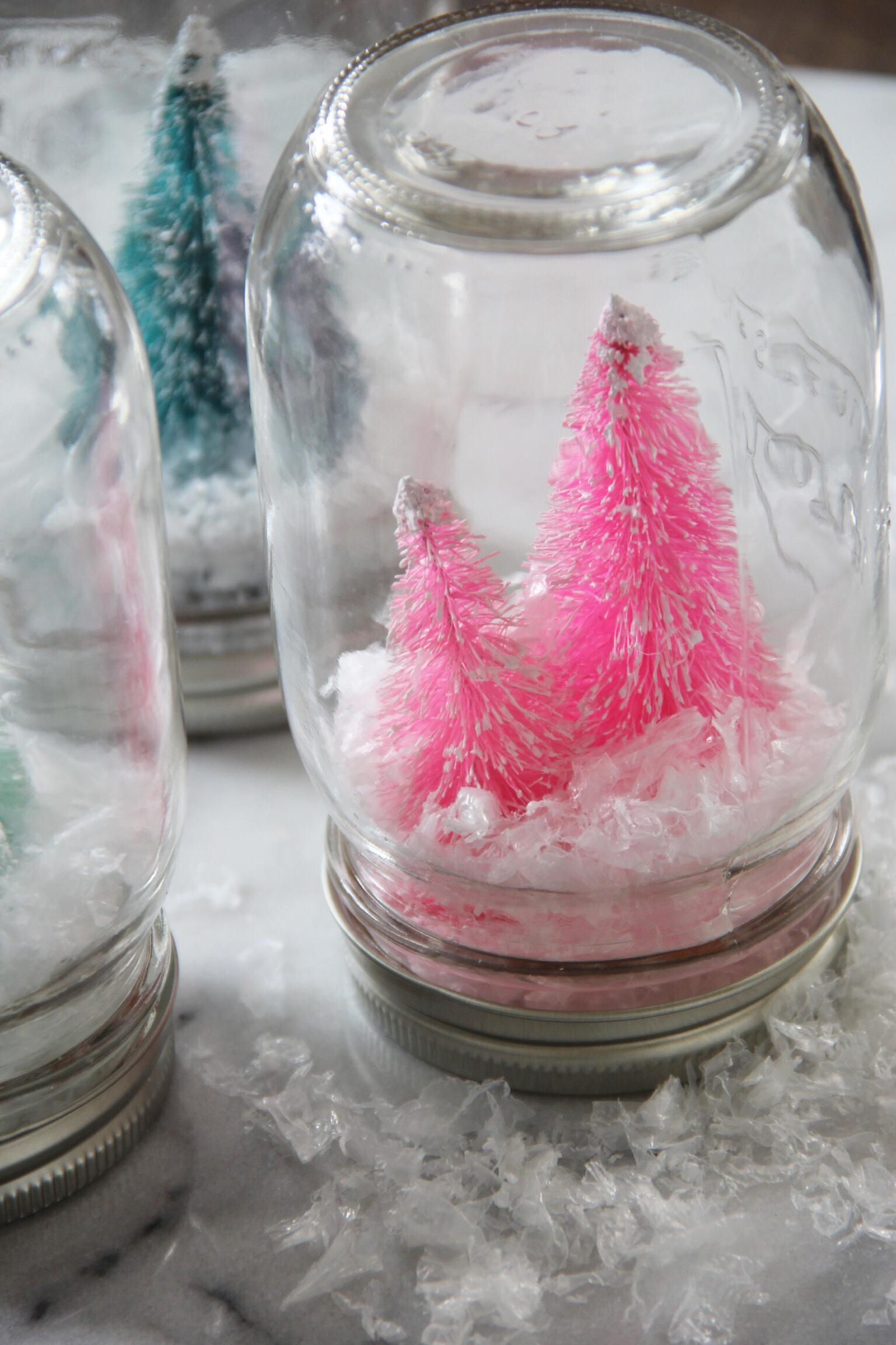 DIY: Retro Bottle Brush Snow Globes - The Pastiche