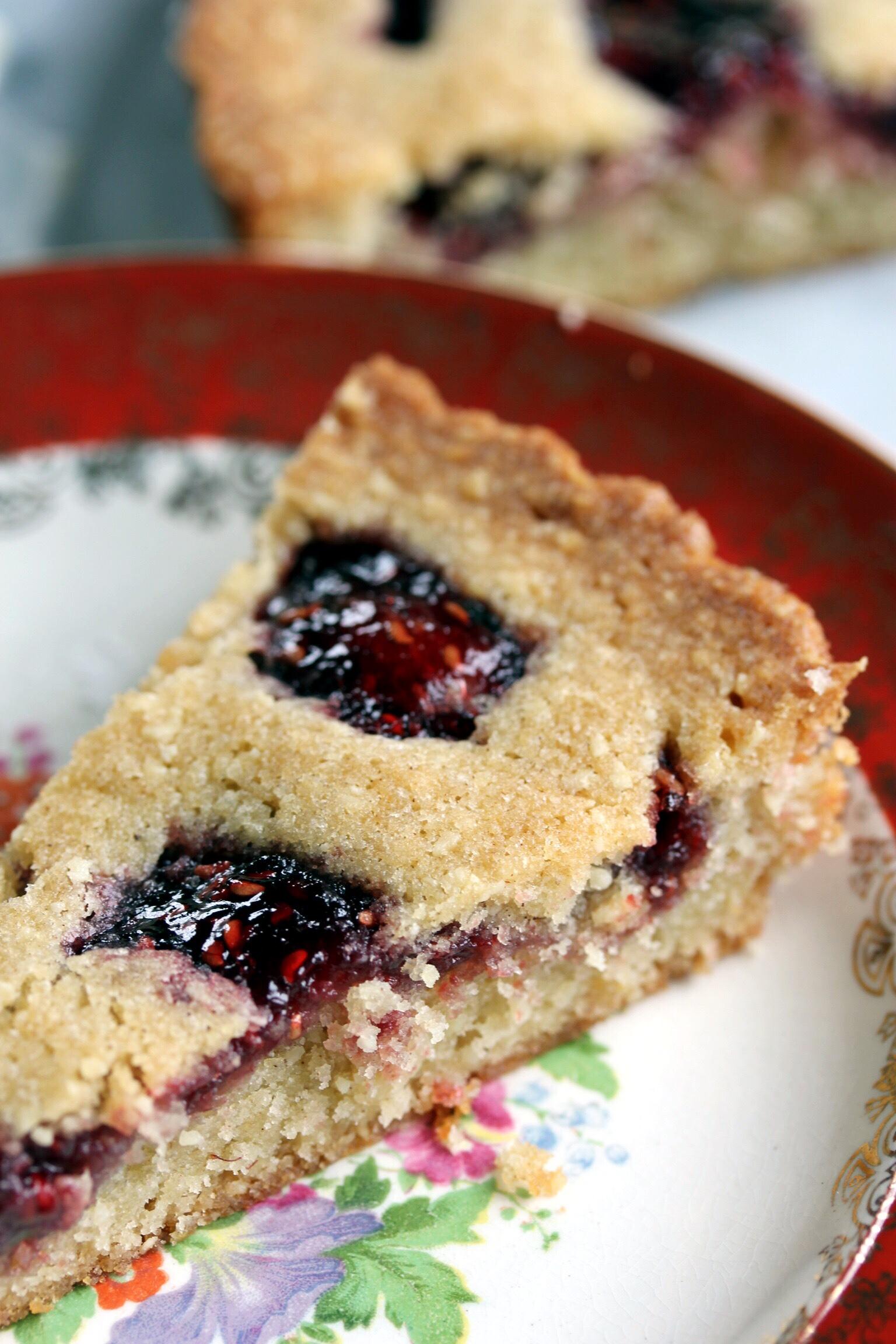 Raspberry linzer torte - The Pastiche