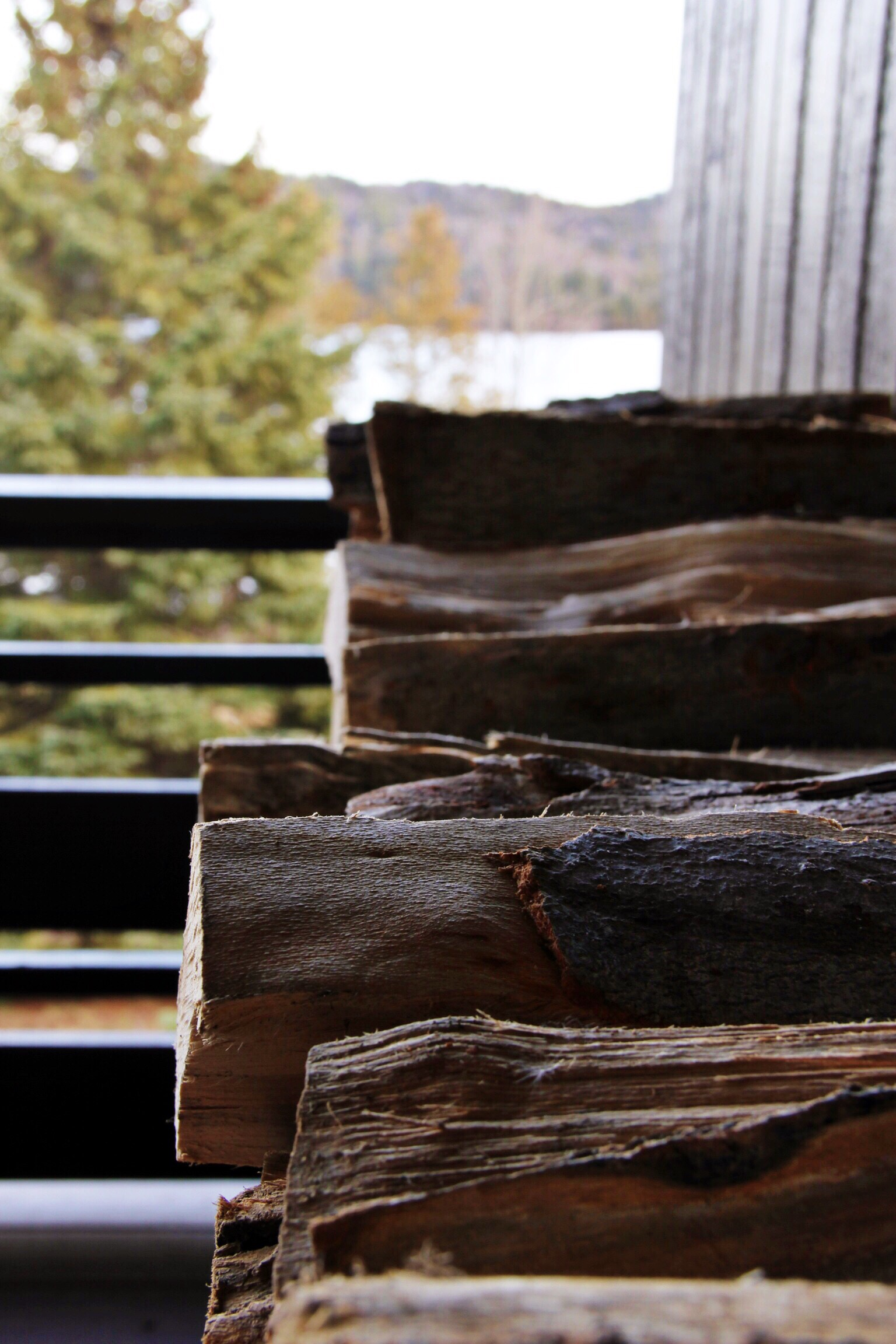 Firewood at our home away from home - The Pastiche