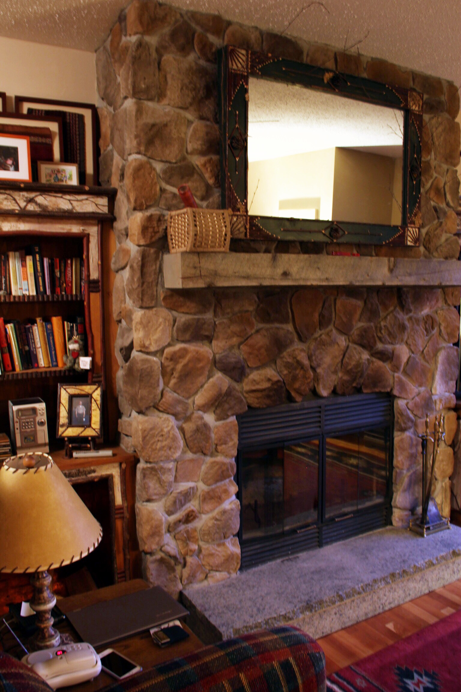 Our cozy fireplace - The Pastiche