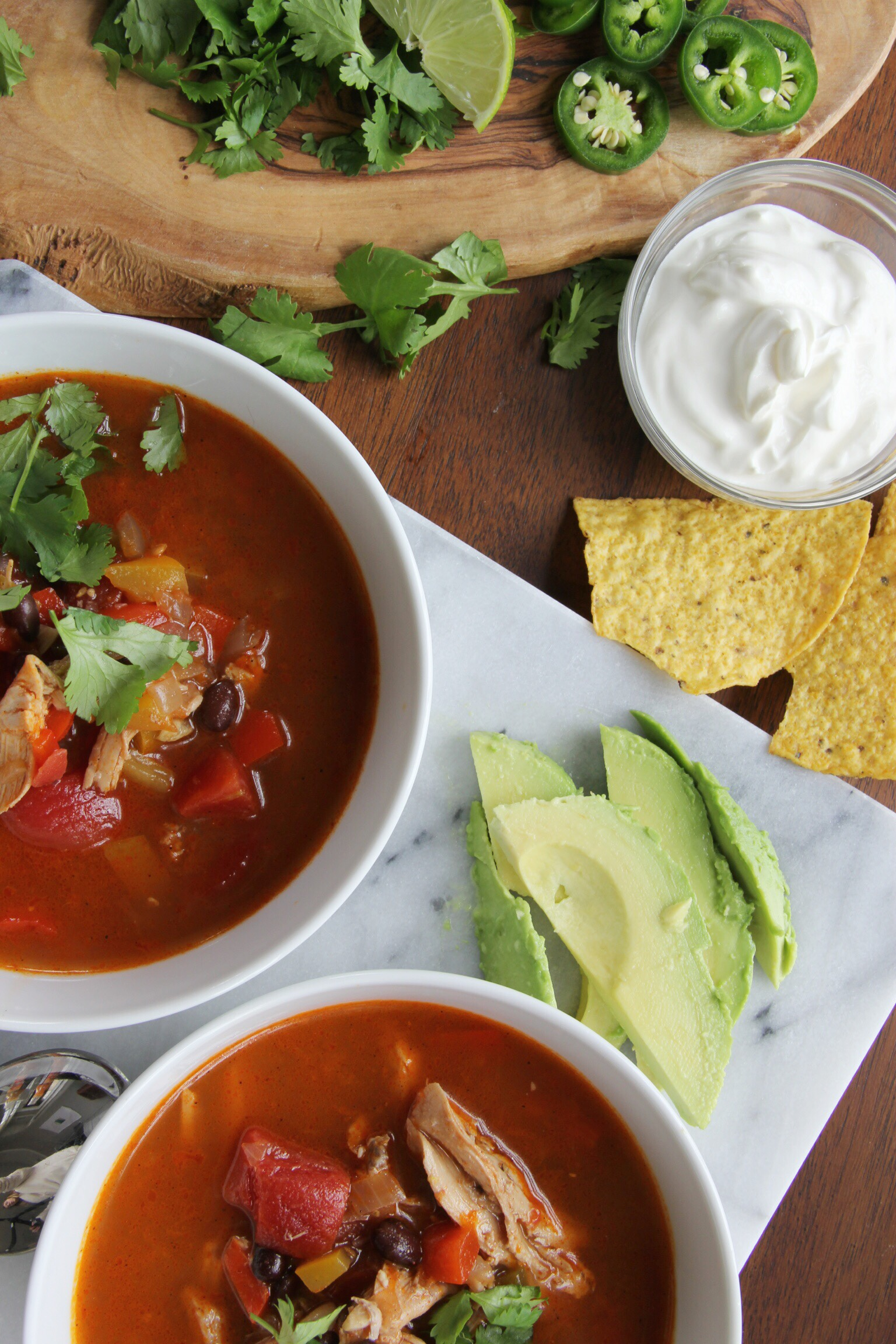 Spicy Mexican chicken soup - The Pastiche