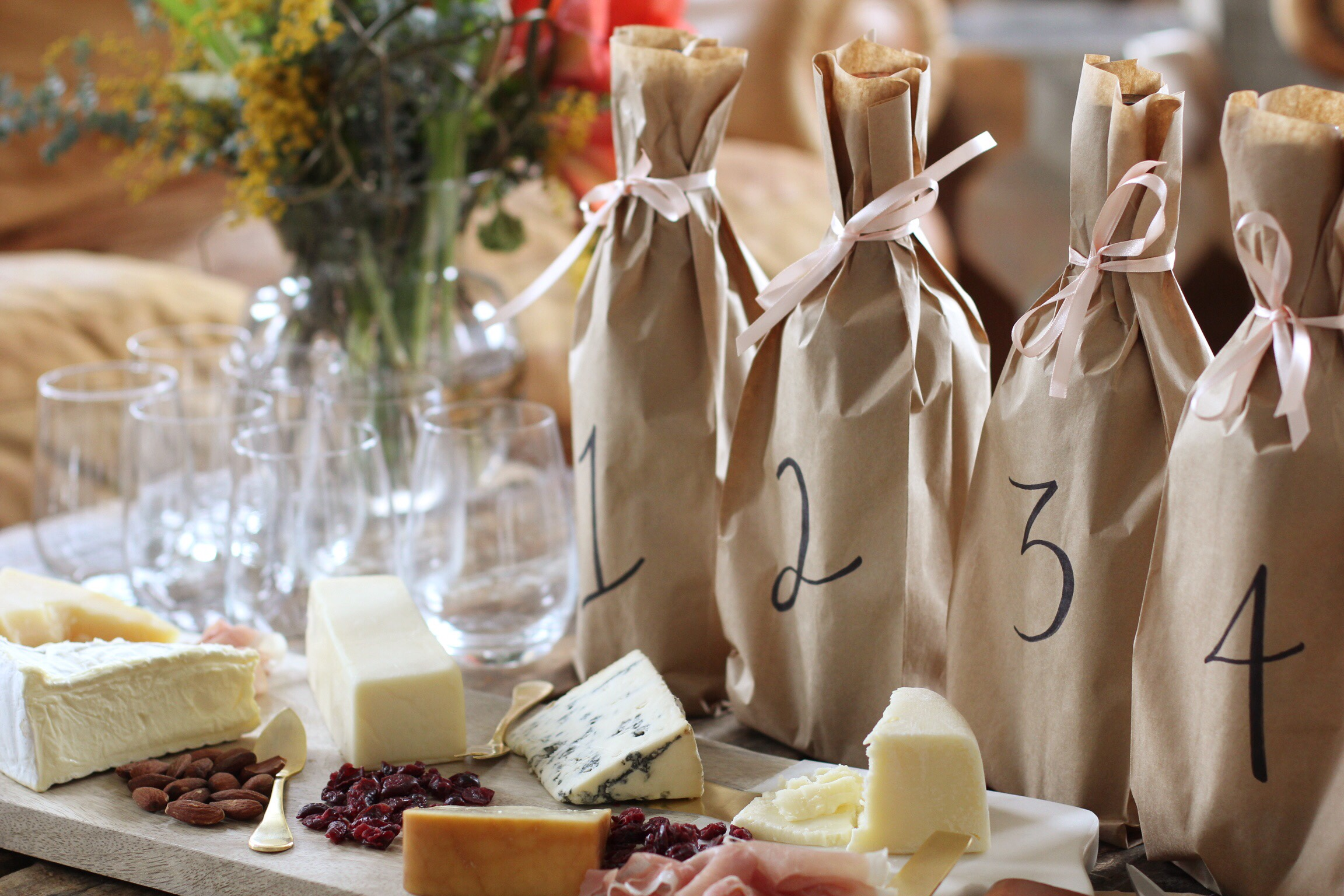 Blind wine tasting party - The Pastiche