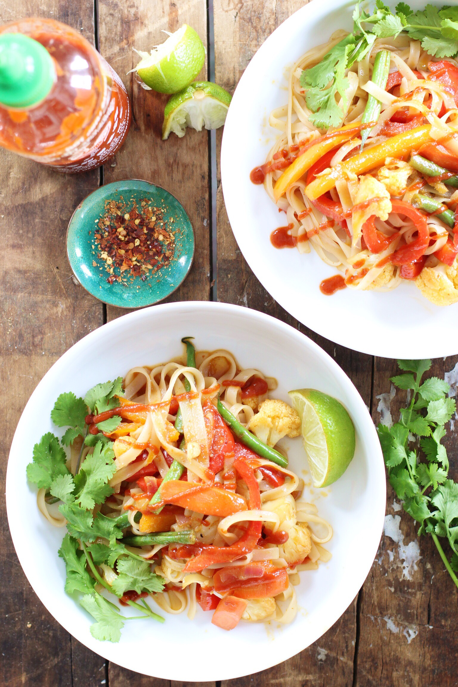 Coconut curry stir fry with rice noodles - The Pastiche