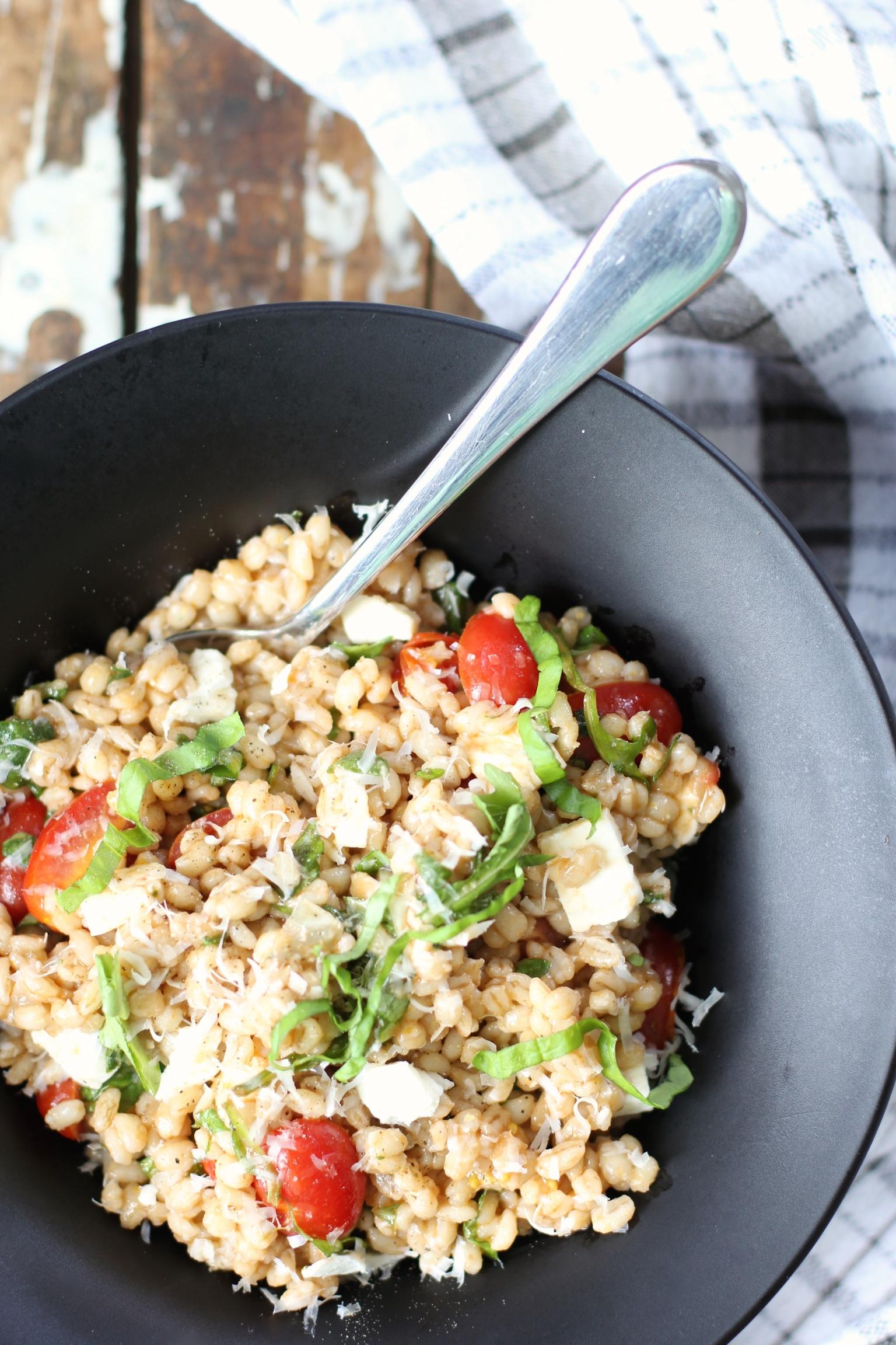 Caprese wheat berry salad - The Pastiche