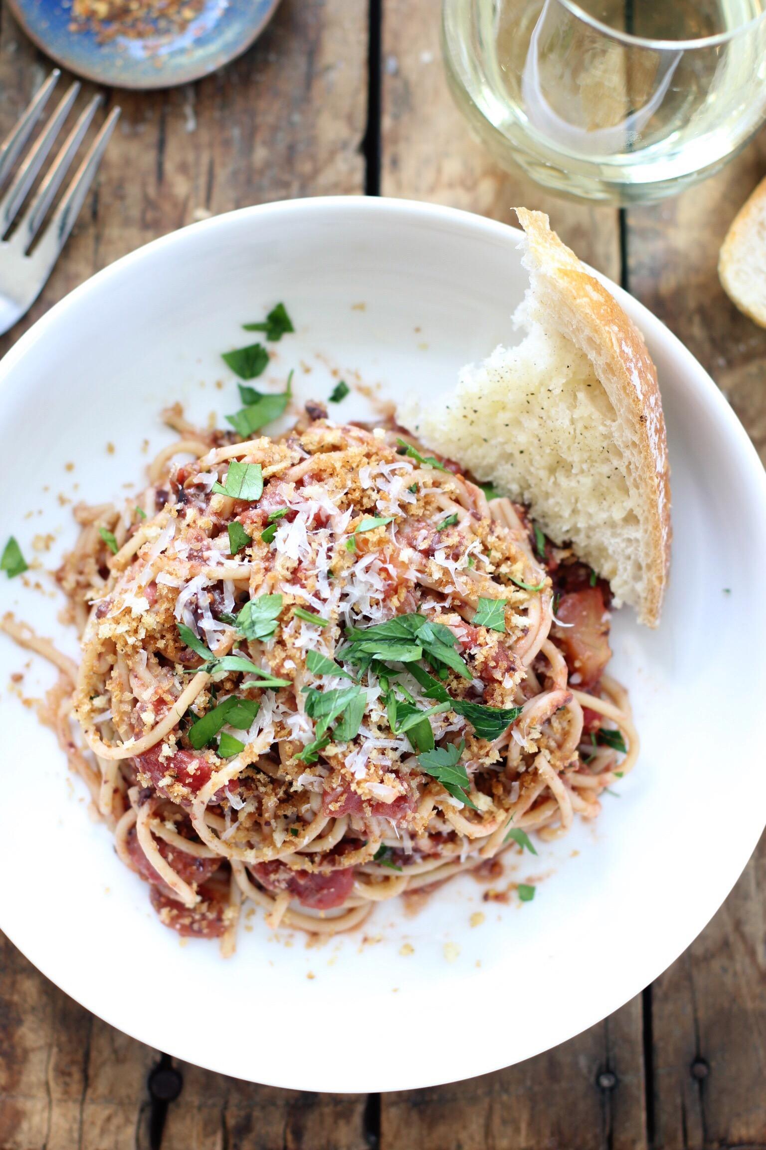 Spaghetti puttanesca - The Pastiche