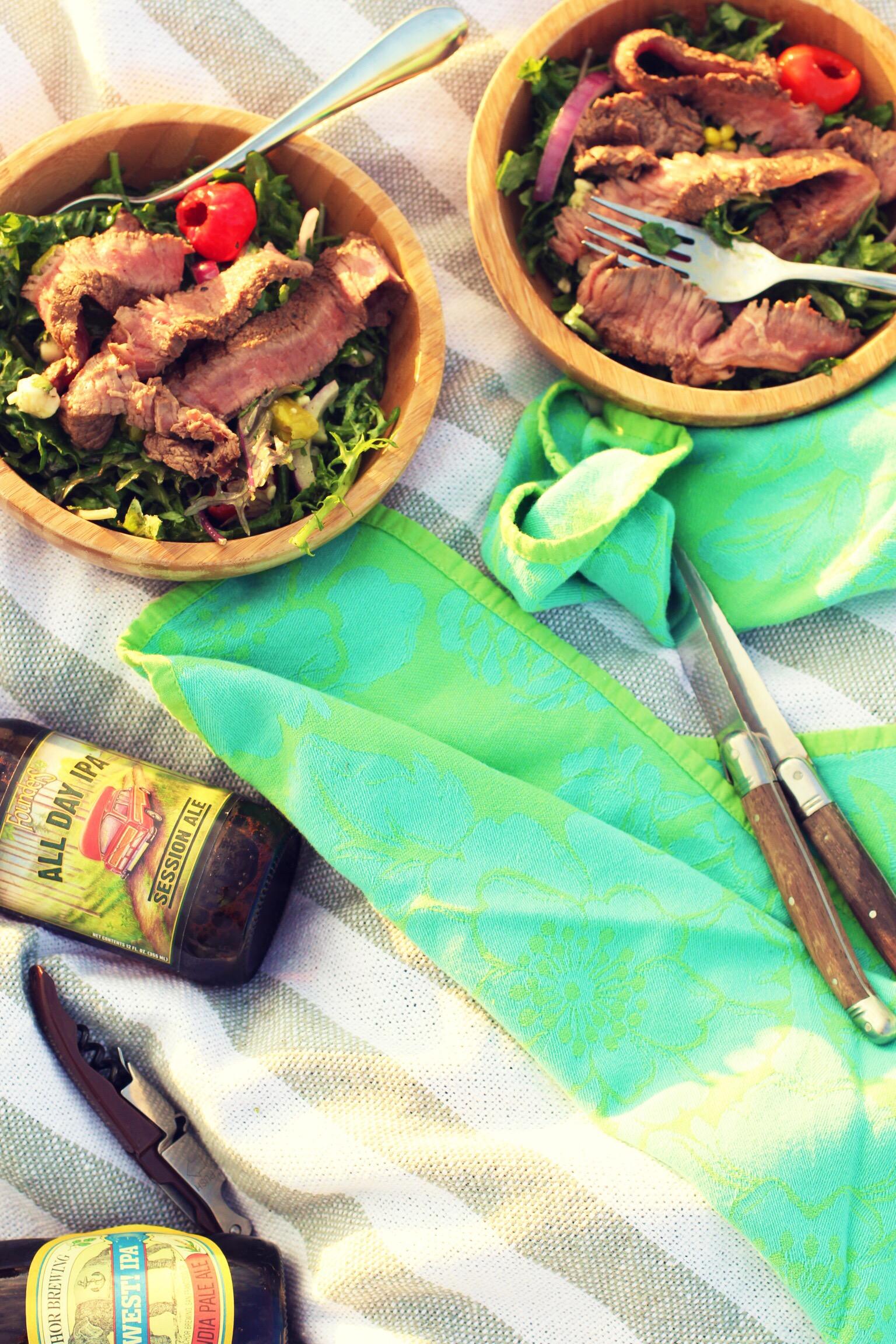 Summer picnic steak salad - The Pastiche