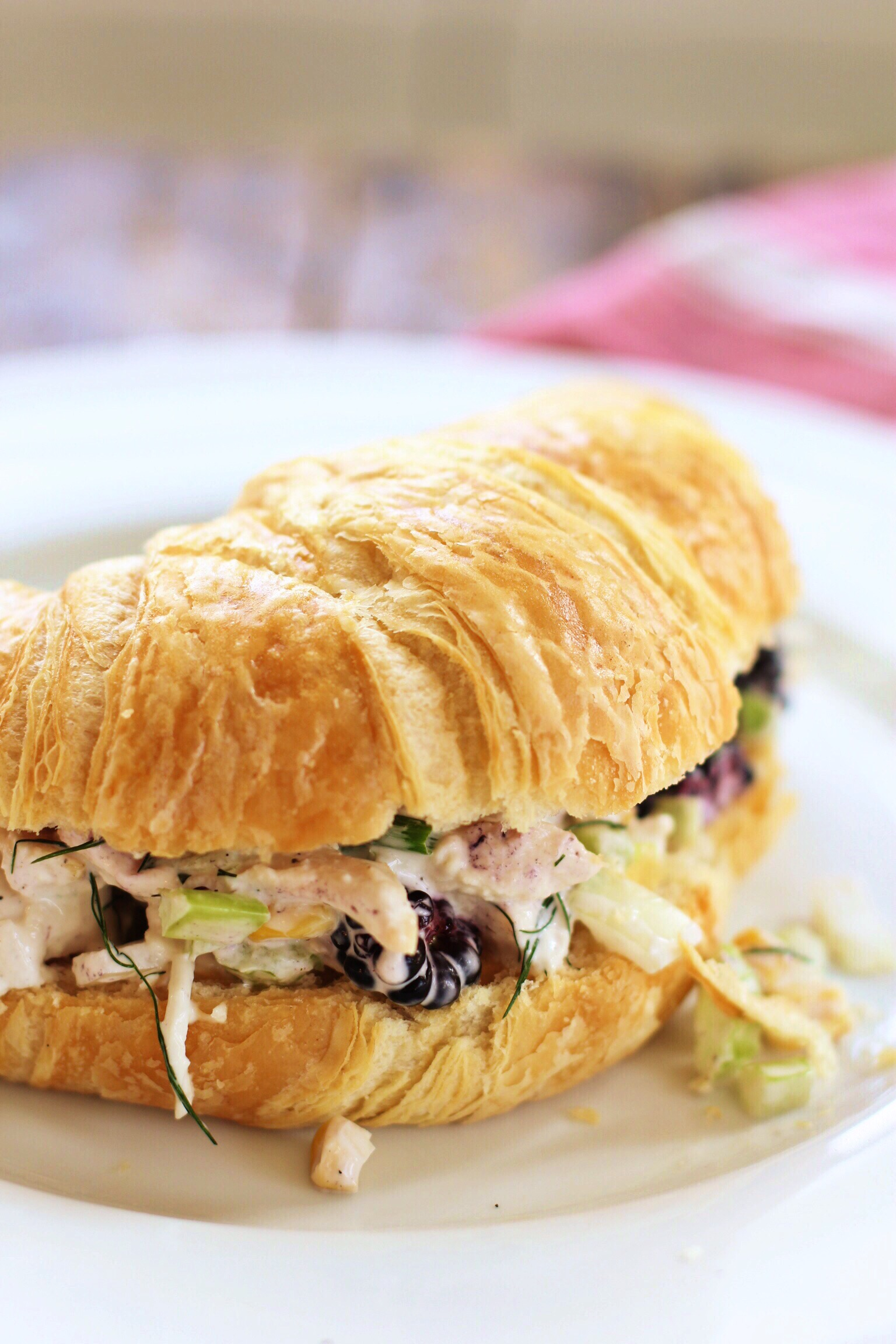 Chicken salad with blackberries and sweet corn - The Pastiche