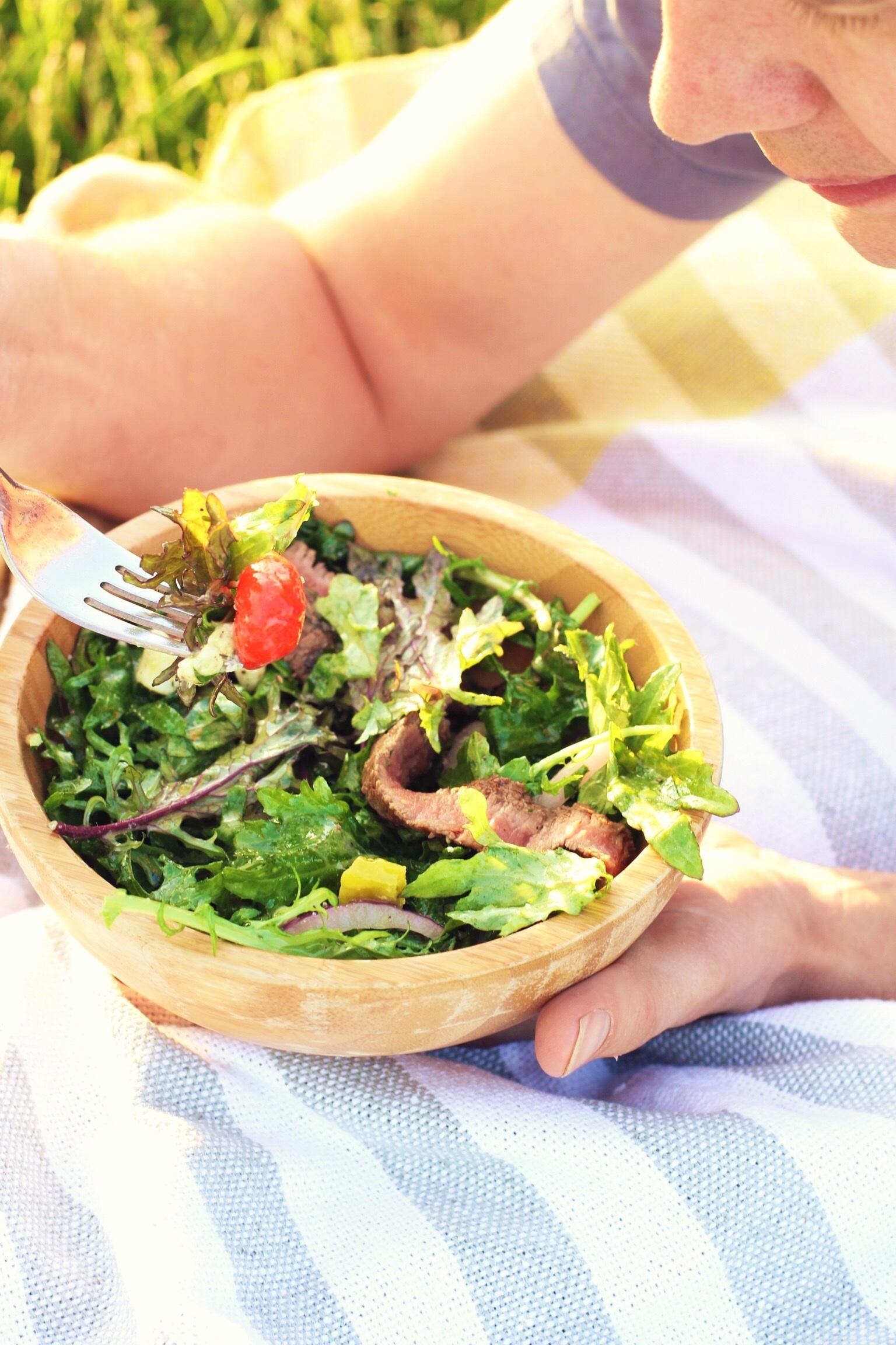 Picnic steak salad  - The Pastiche