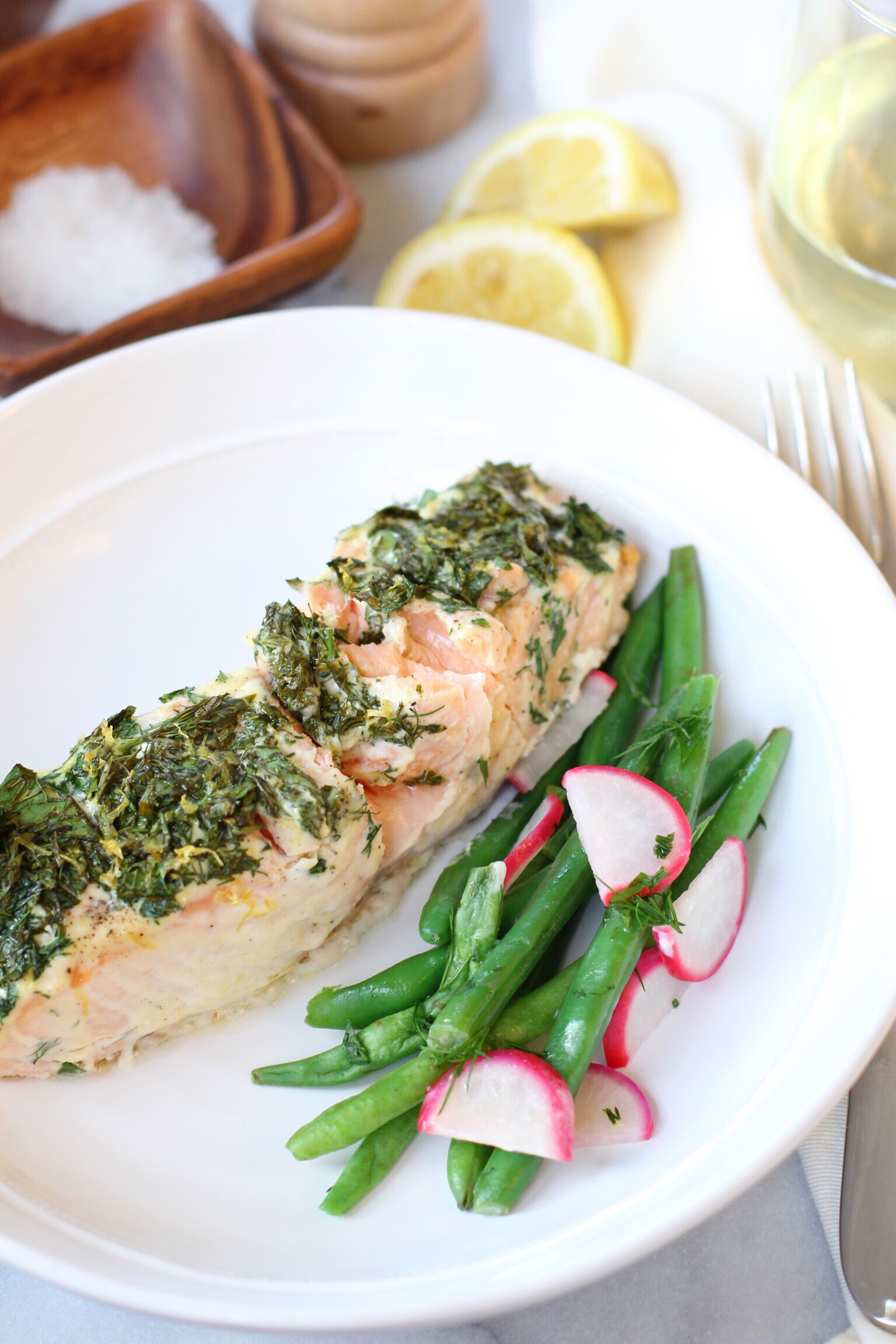 Slow roasted herb salmon - The Pastiche