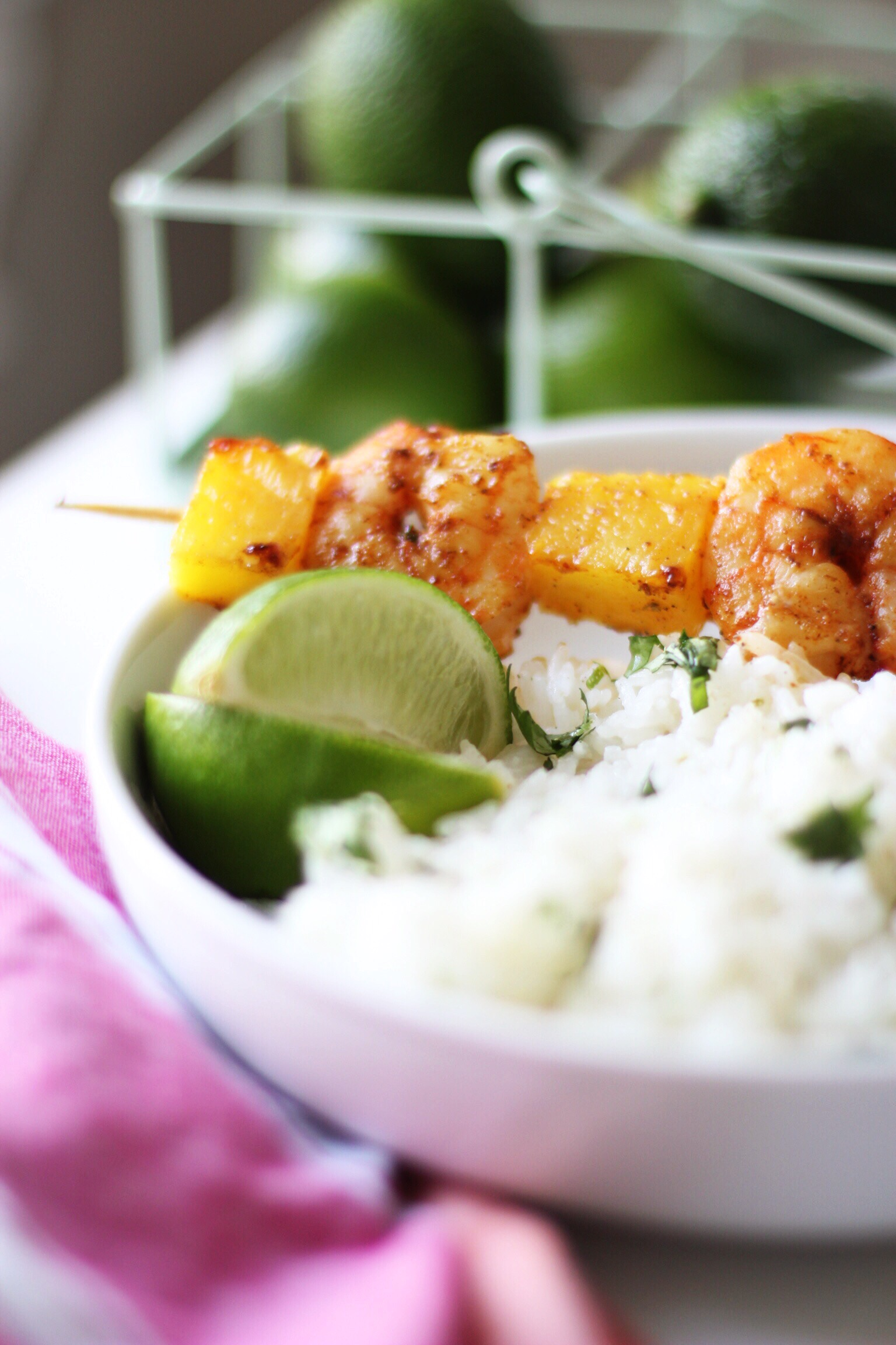 Butter basted shrimp and pineapple skewers - The Pastiche