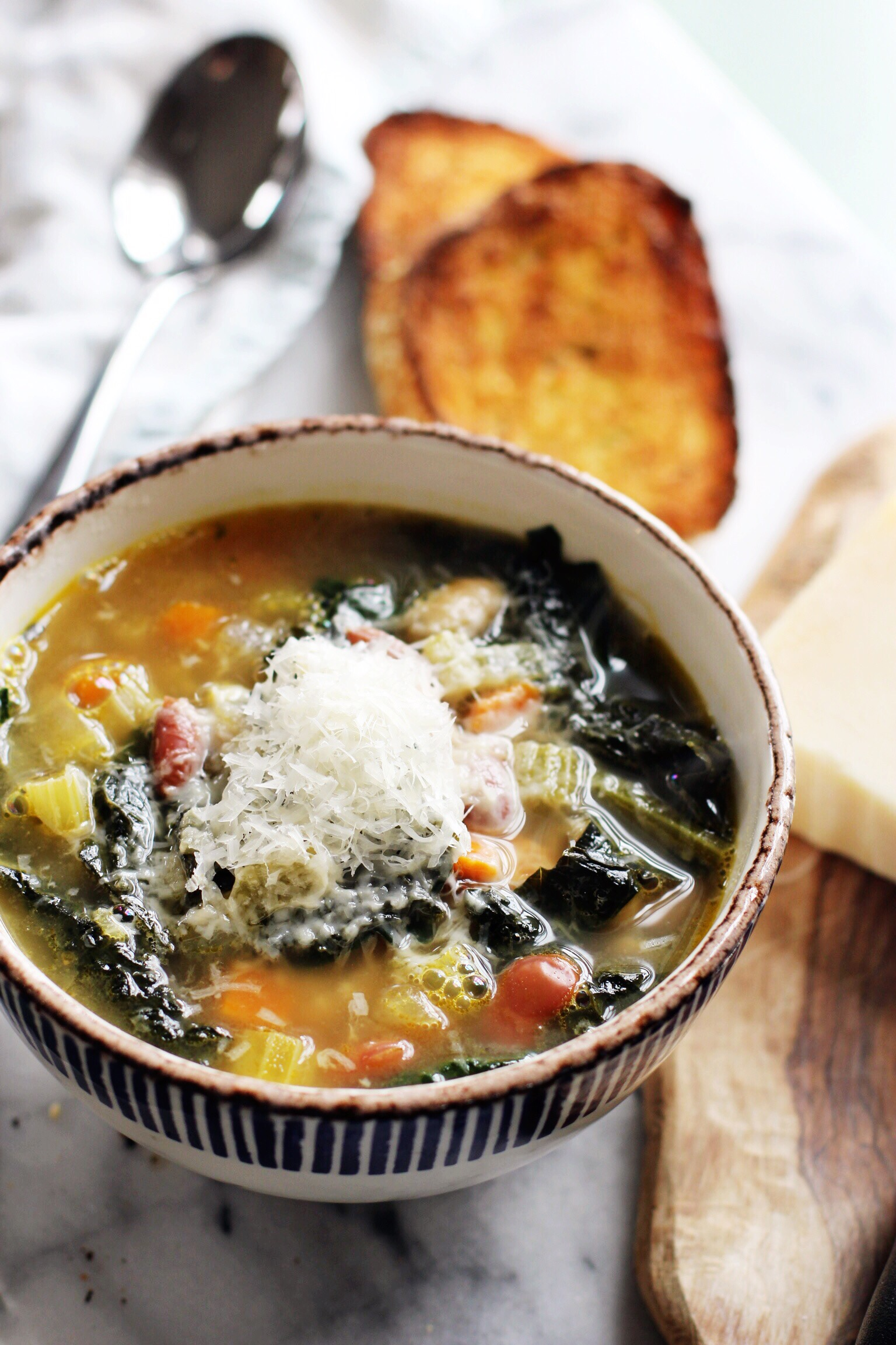 Tuscan bean and kale soup for fall - The Pastiche