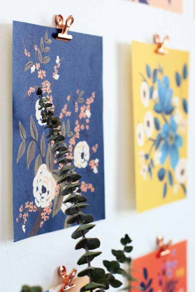 Calendar pages as wall art DIY