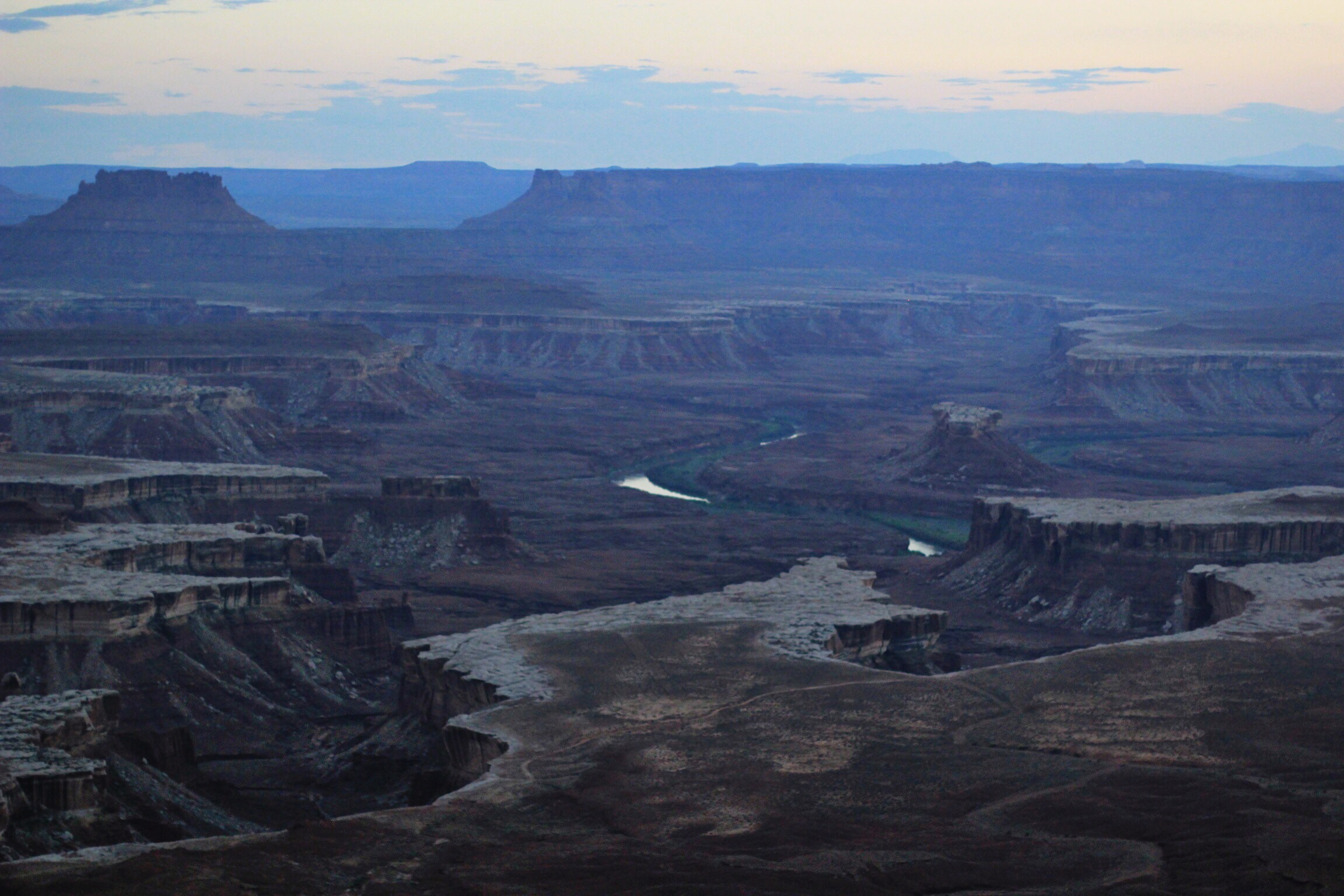...and this is what the shadowy Canyon looked like during sunset. We were totally alone.