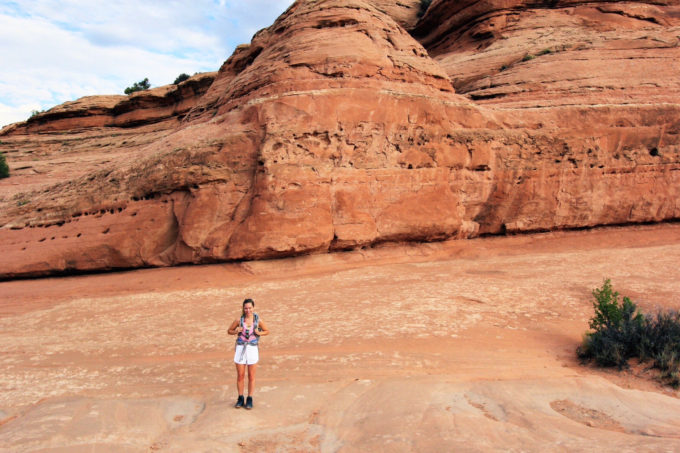 Hiking up to Delicate Arch - the last quarter mile was unlike anything I'd ever seen before