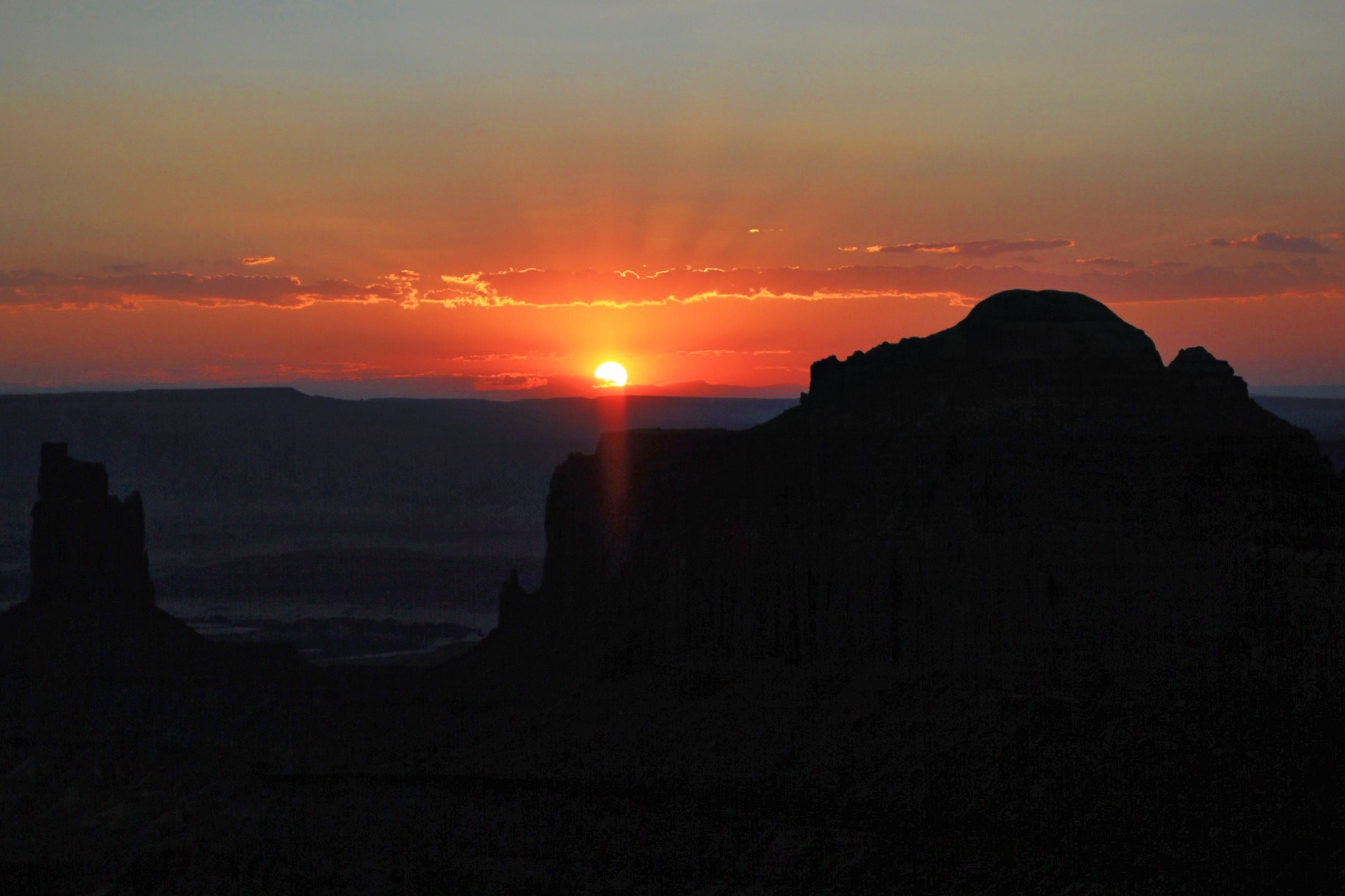 Sunset at Green River Overlook - we sprinted here from our campsite to catch it just in time